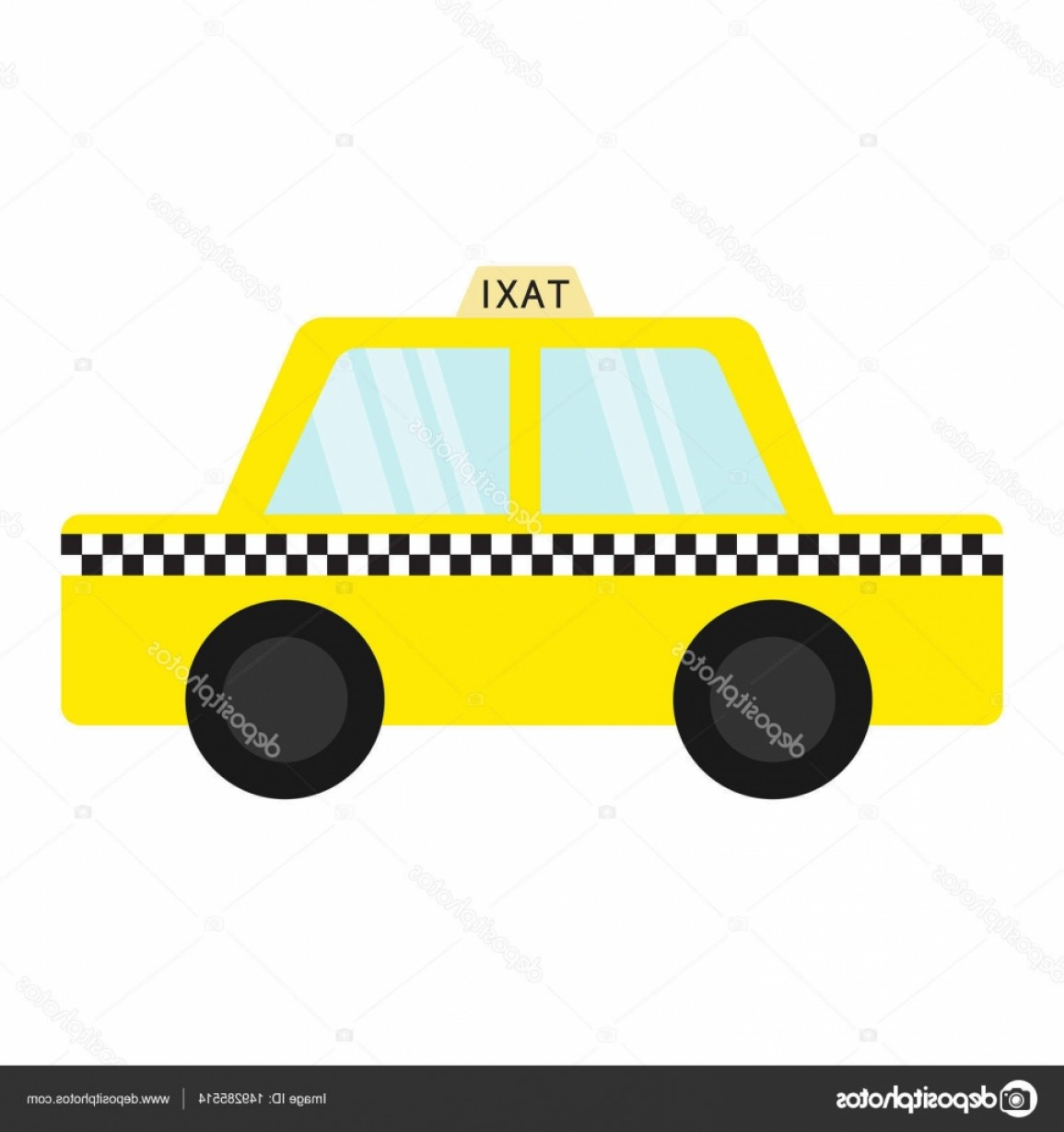 New York Taxi Cab Vector: Stock Illustration Taxi Car Cab Icon