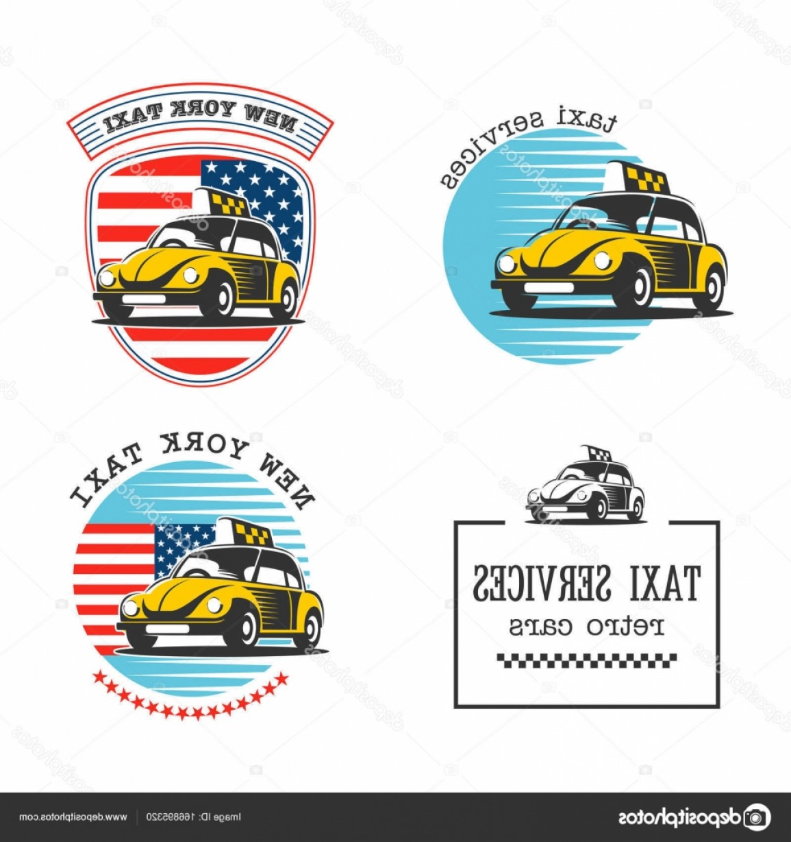 New York Taxi Cab Vector: Stock Illustration Taxi In New York Taxi