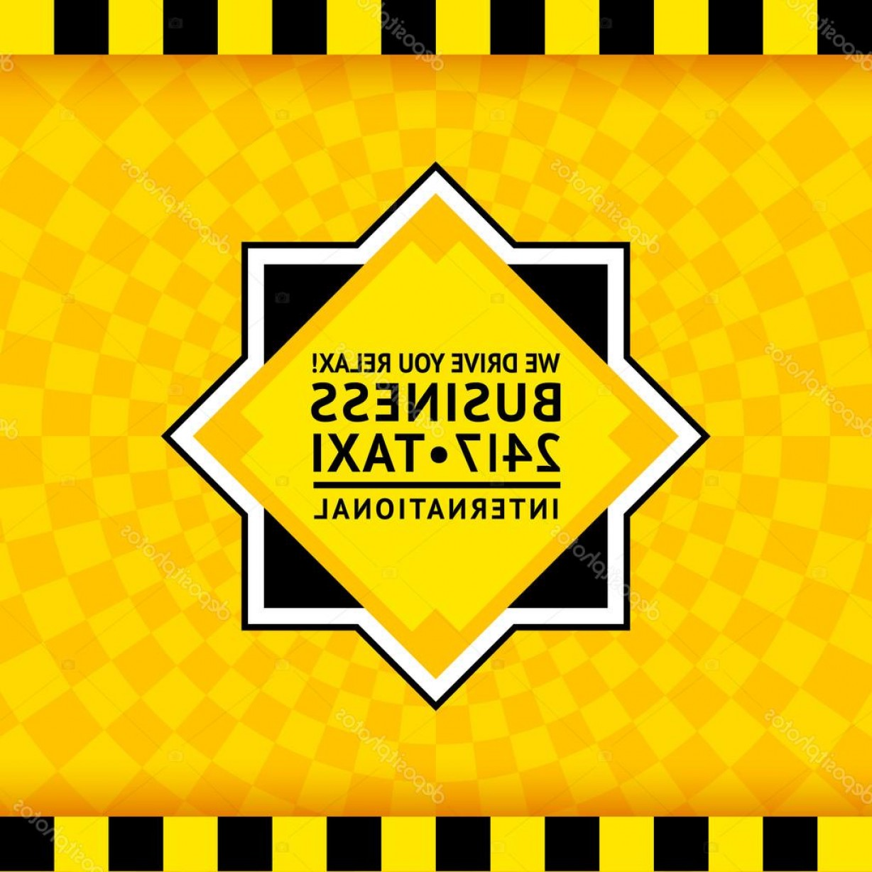 Taxi Checkers Vector: Stock Illustration Taxi Symbol With Checkered Background