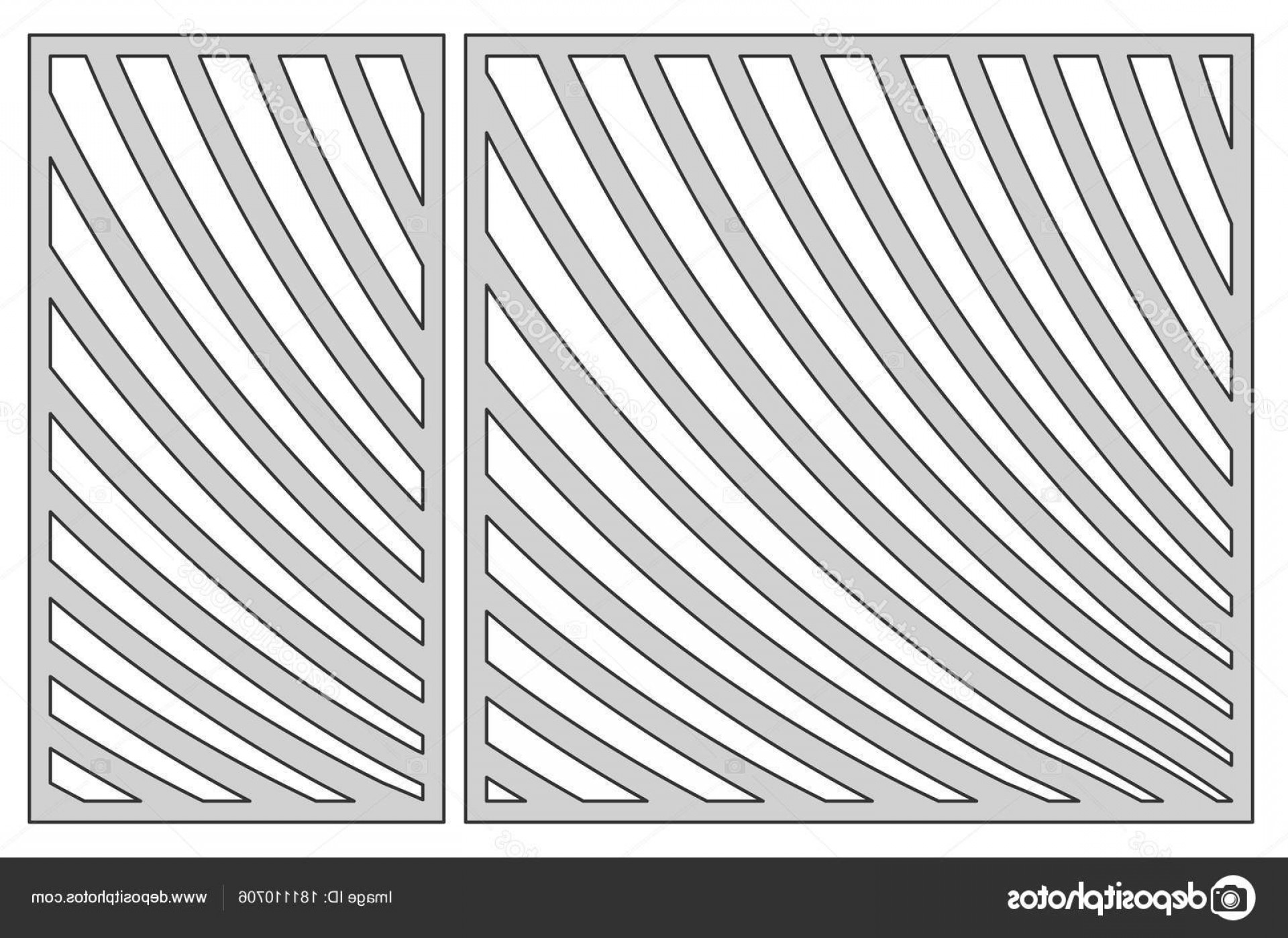 1-1 Vector: Stock Illustration Template For Cutting Geometric Line