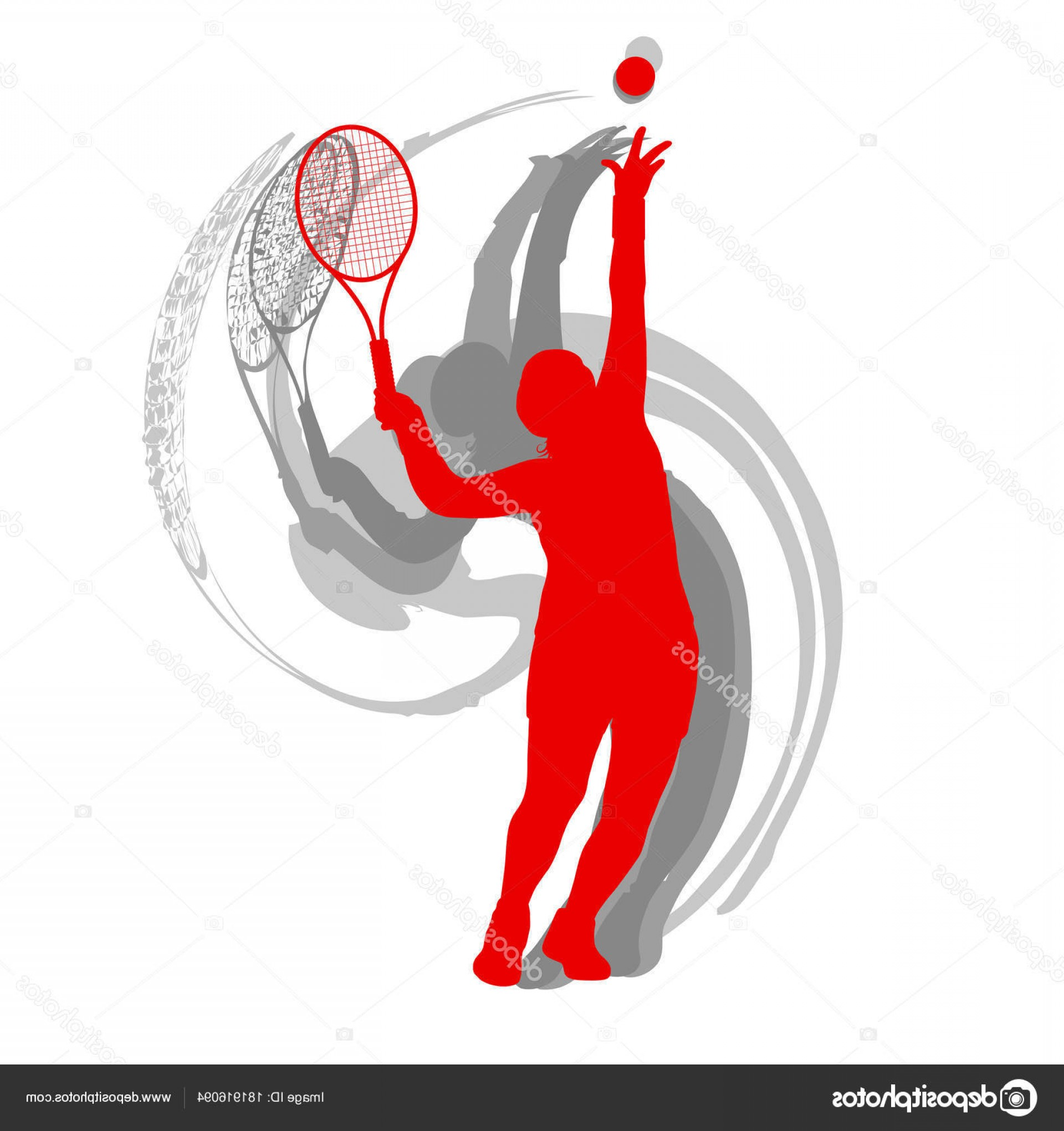 Motion Basketball Vector: Stock Illustration Tennis Player Male Vector Abstract