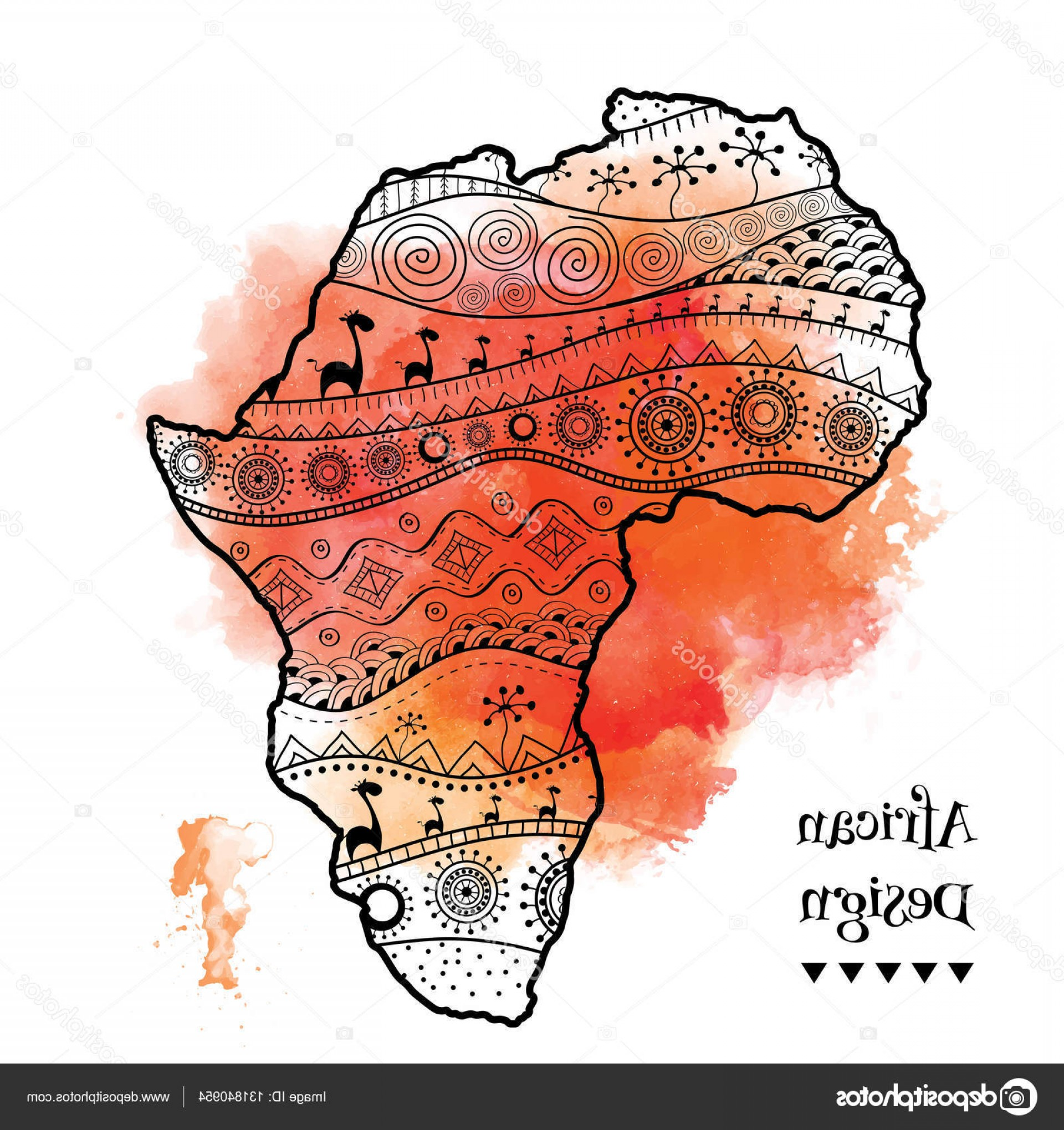 BG Vector Map: Stock Illustration Textured Vector Map Of Africa