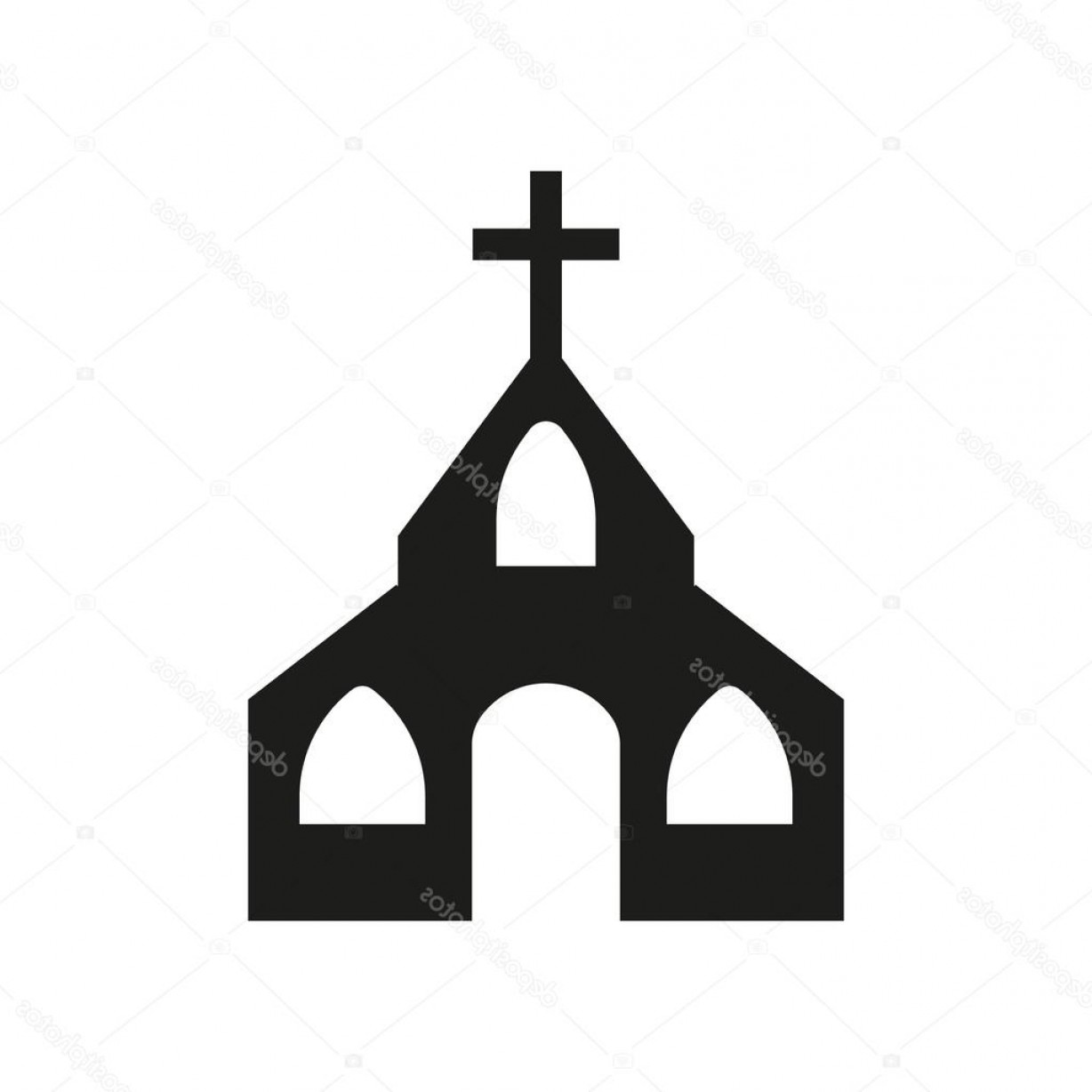 Church Silhouette Vector: Stock Illustration The Church Icon Christian And