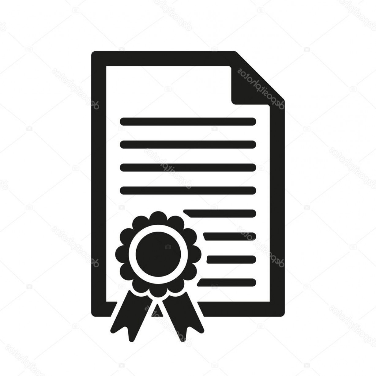 Diploma Icon Vector: Stock Illustration The Diploma Icon Certificate Symbol