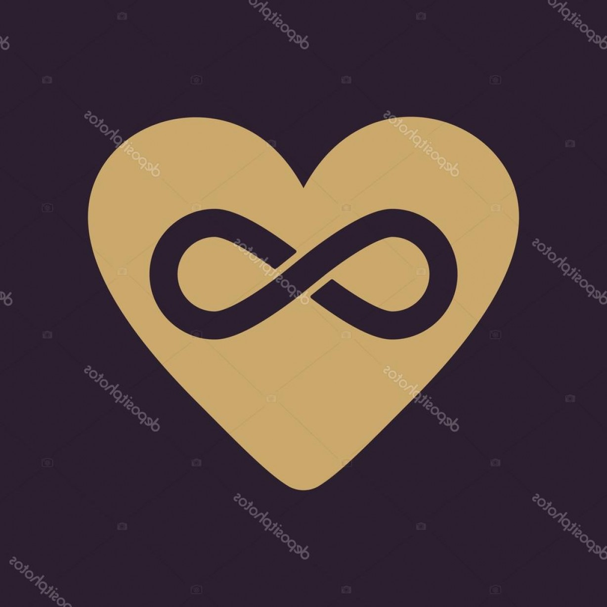 Vector Infinity Symbol Hearts: Stock Illustration The Heart And Infinity Icon