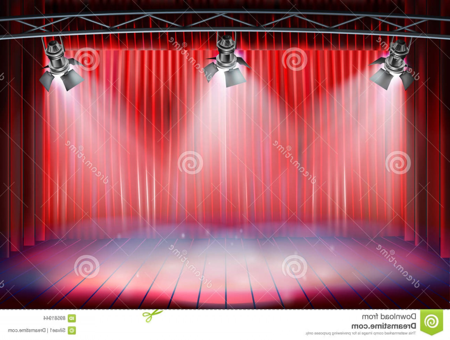 Stage Curtain Vector: Stock Illustration Theater Stage Curtain Vector Illustration Red Image
