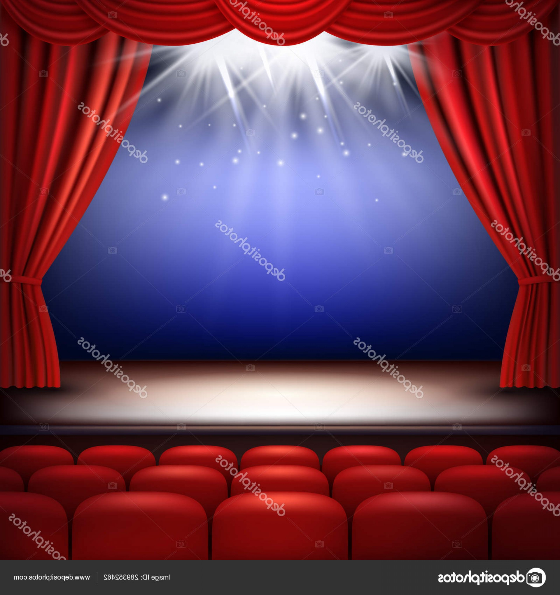 Vector Stage Audience: Stock Illustration Theater Stage Festive Background Audience