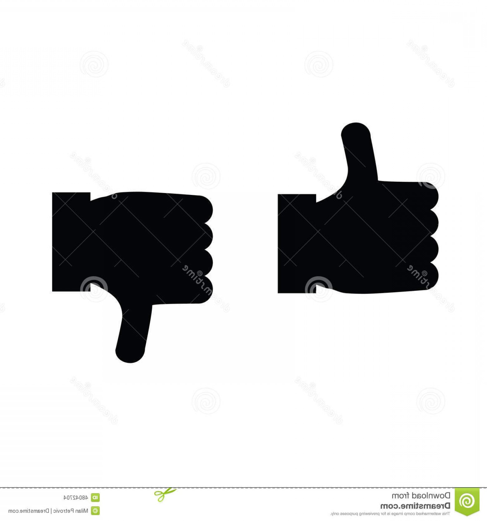 Vector Thumbs Up Down: Stock Illustration Thumbs Up Thumbs Down Icon Vector Illustration Image