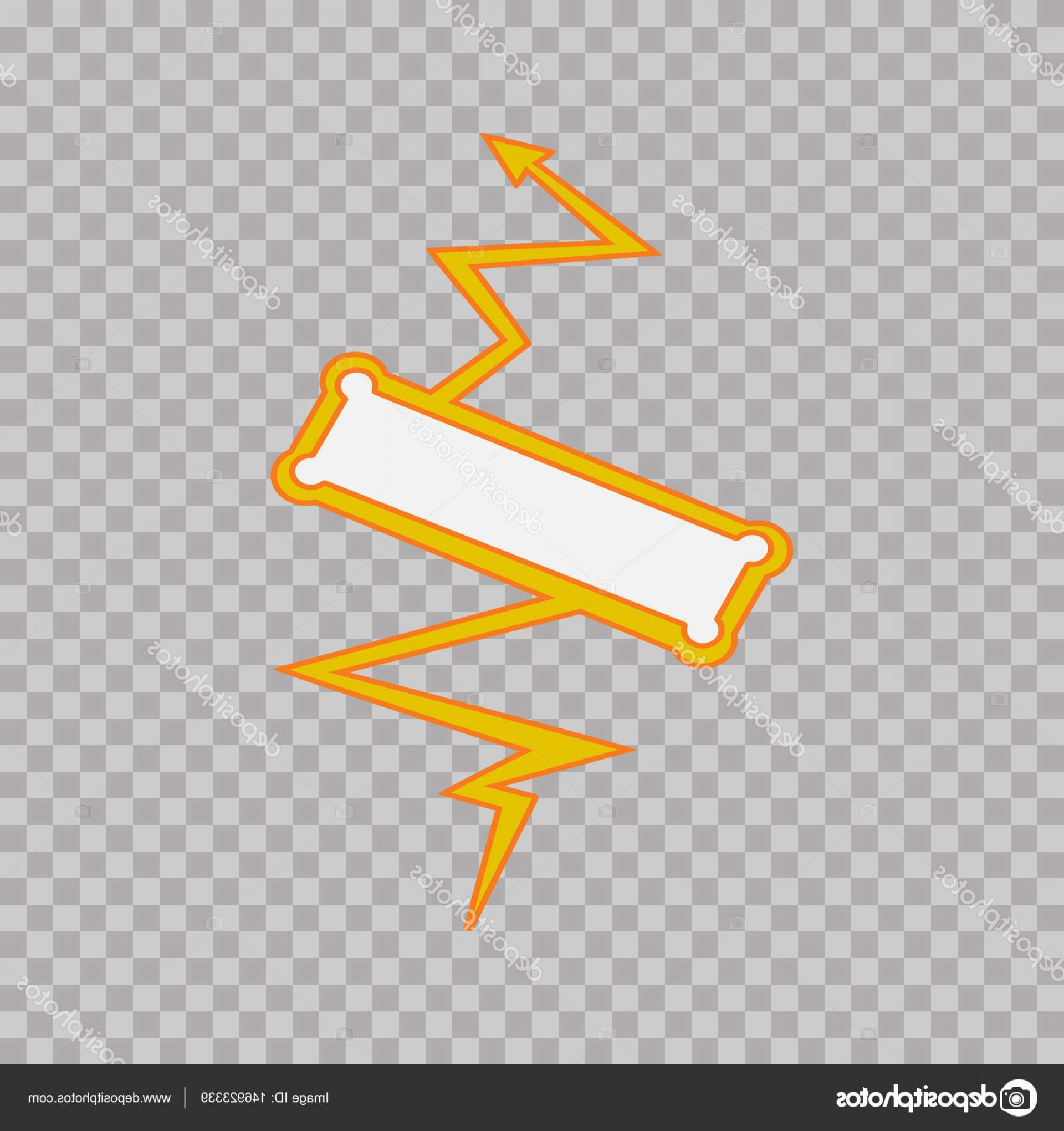 Flash Superhero Logo Vector: Stock Illustration Thunderbolt Sign On Tranparent Background