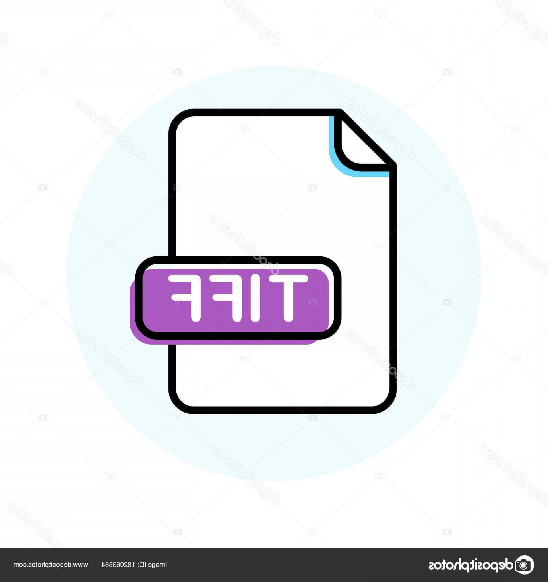 File Extension Vector Art: Stock Illustration Tiff File Format Extension Color