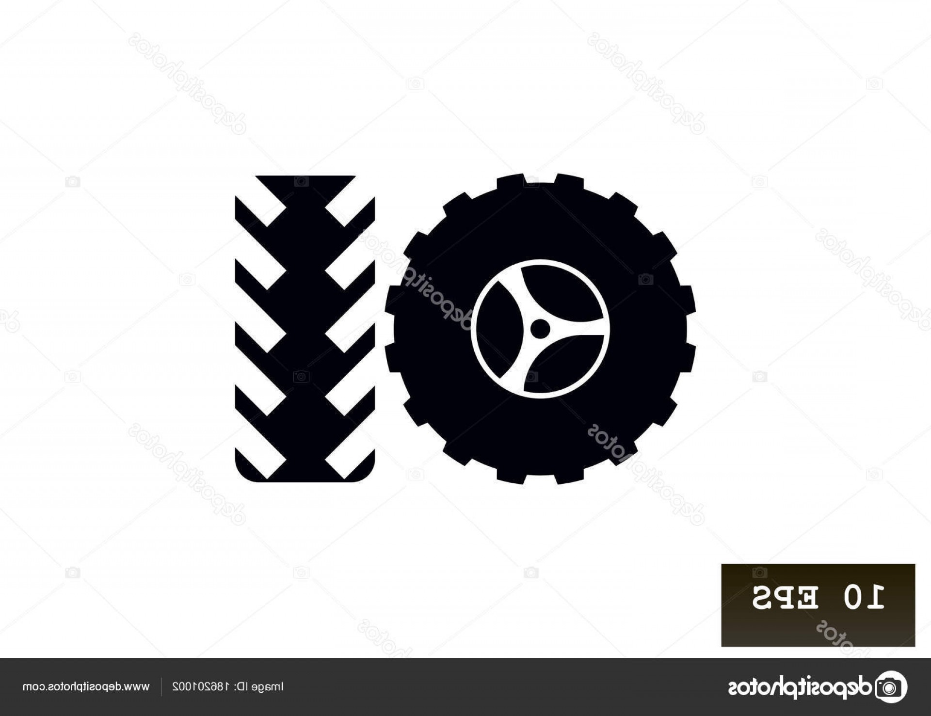 Tire Icon Vector: Stock Illustration Tires Flat Icon Vector Illustration