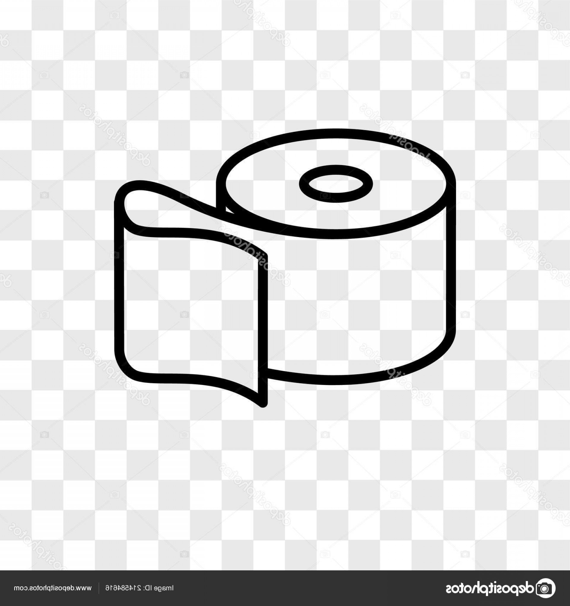 Toilet Paper Vector: Stock Illustration Toilet Paper Vector Icon Isolated