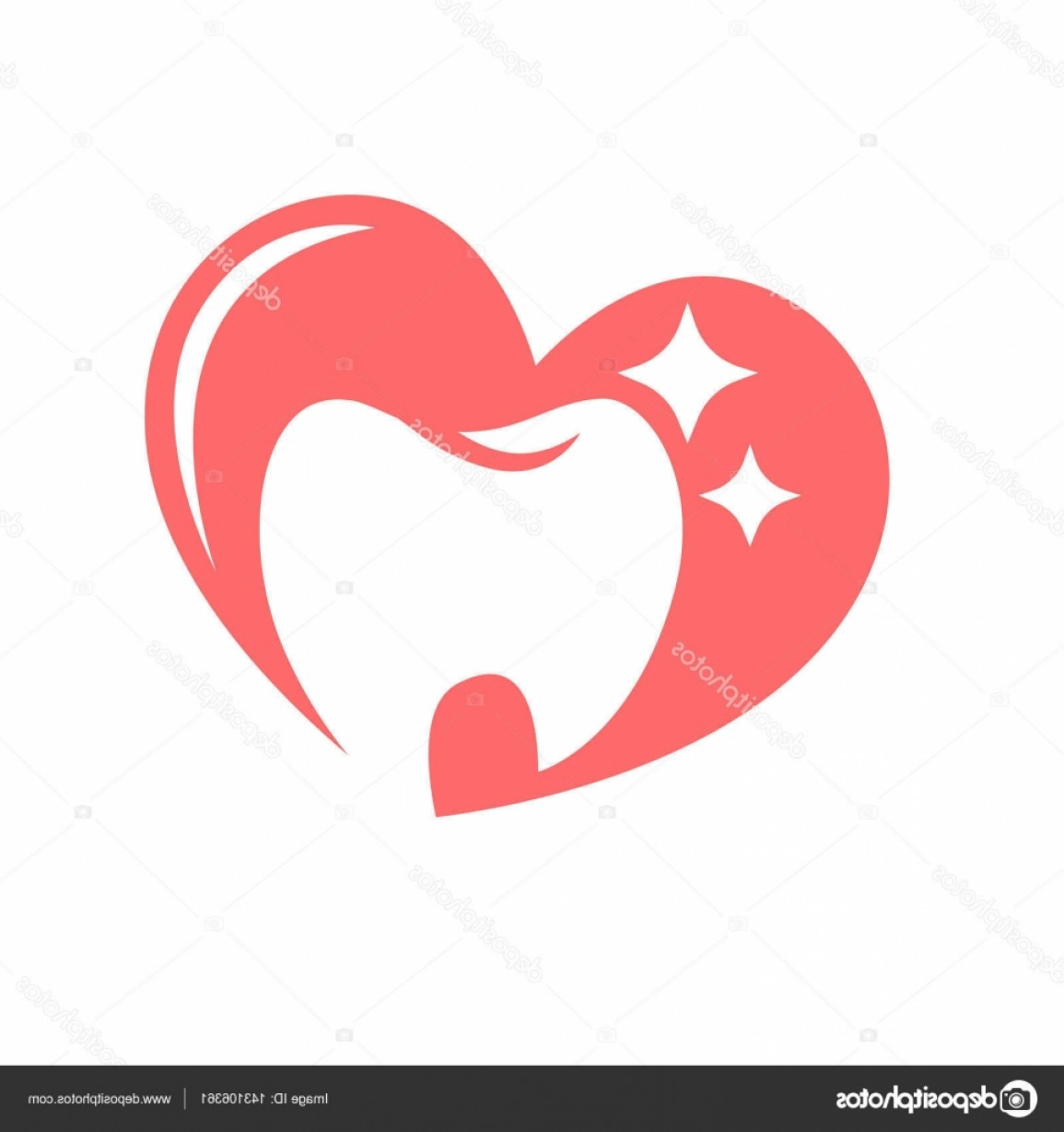 Tooth Vector Logo: Stock Illustration Tooth Logo For Dentistry Or