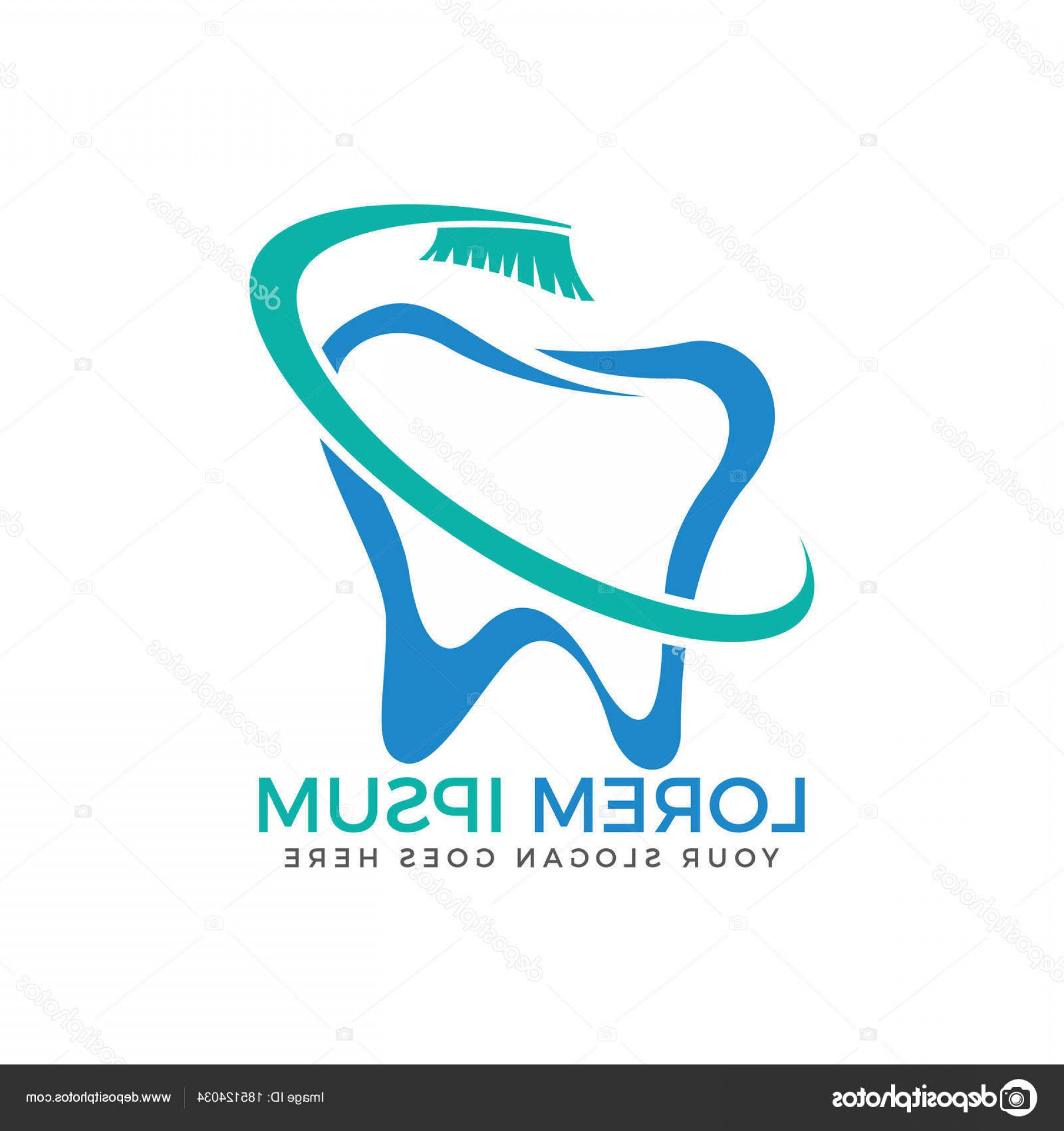 Tooth Vector Logo: Stock Illustration Tooth Vector Logo Template Dentistry