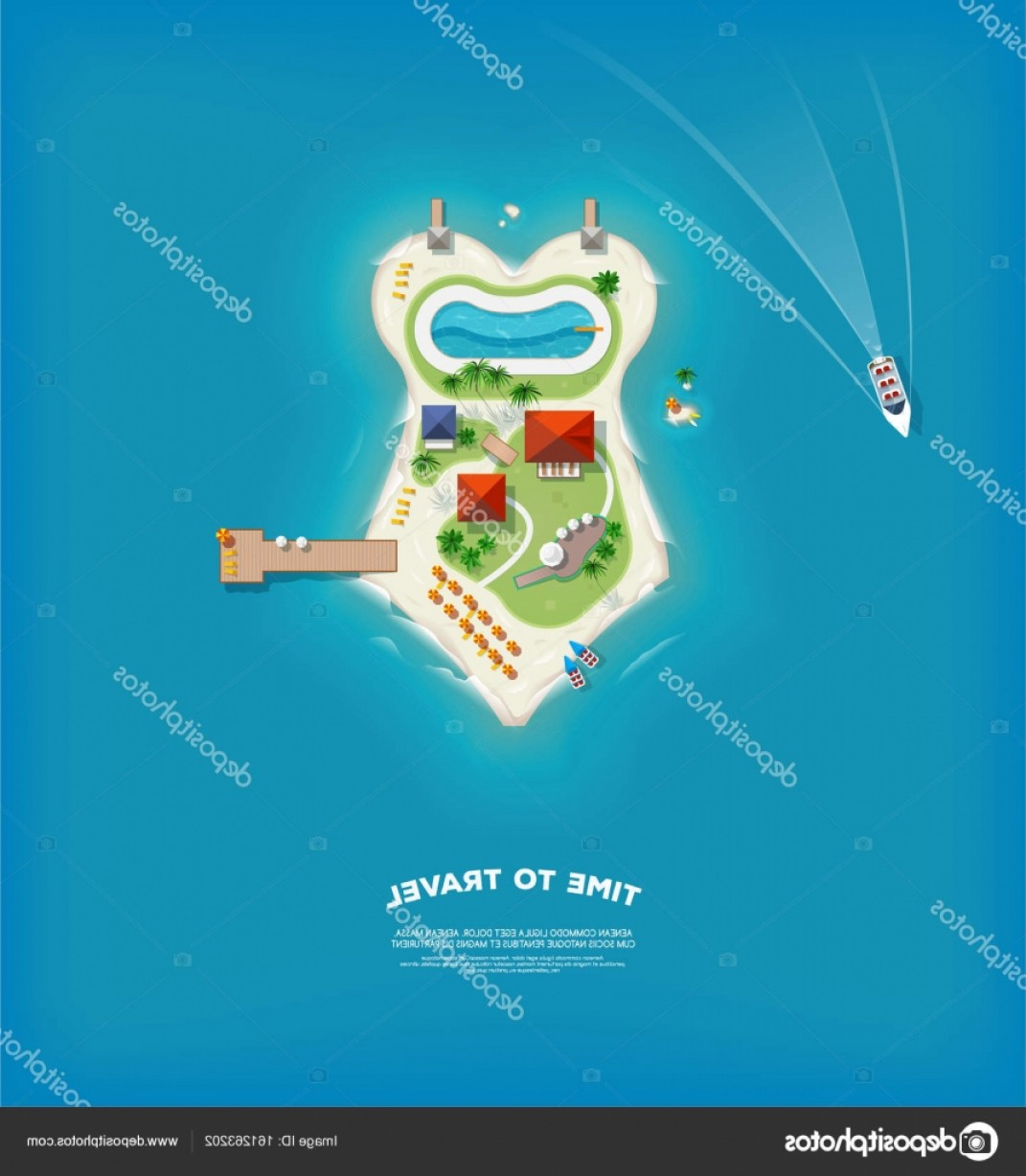 Massport Vector: Stock Illustration Top View Of The Island