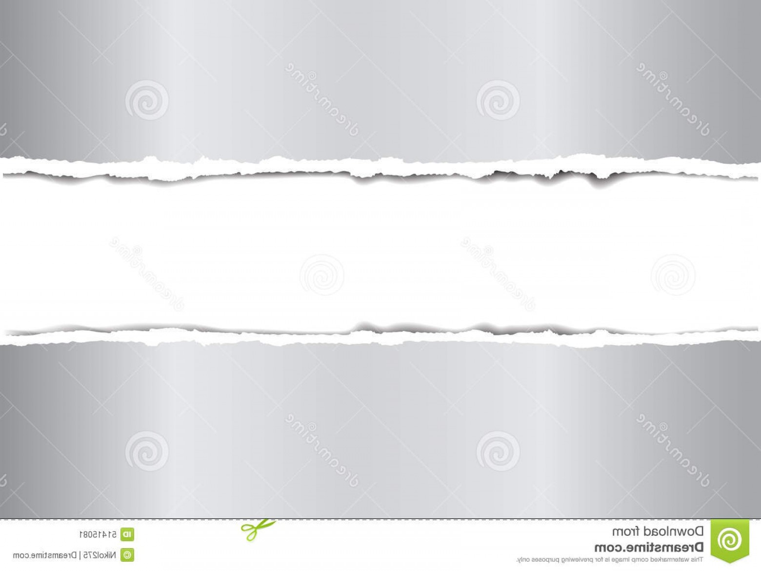 Sheet Metal Effect Vector: Stock Illustration Torn Paper Broken Metallic Effect Vector Image Image