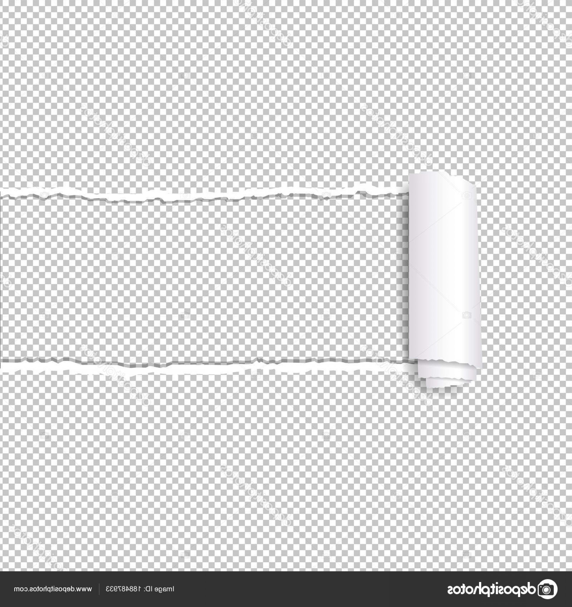 Vector Tear Away: Stock Illustration Torn Paper Edge Transparent Background