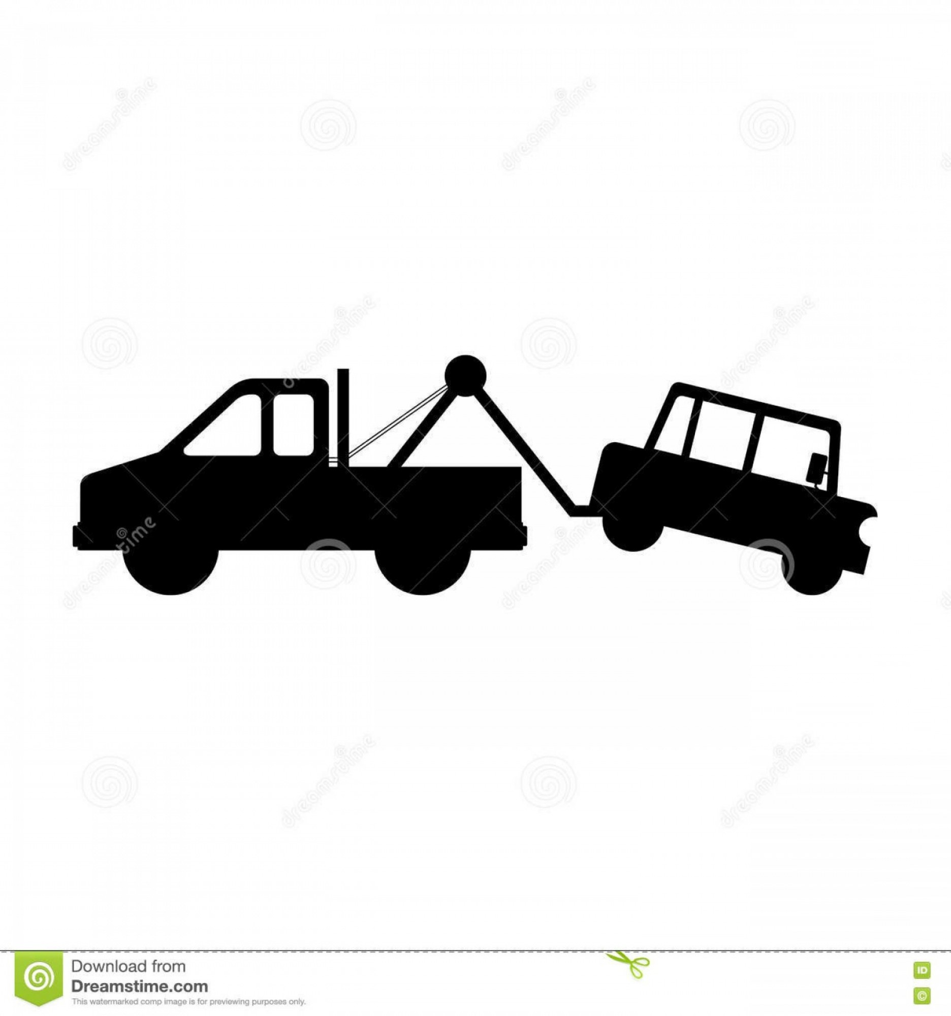 Towing Truck Hook Vector: Stock Illustration Tow Truck Icon Silhouette Car Over White Background Vector Illustration Image