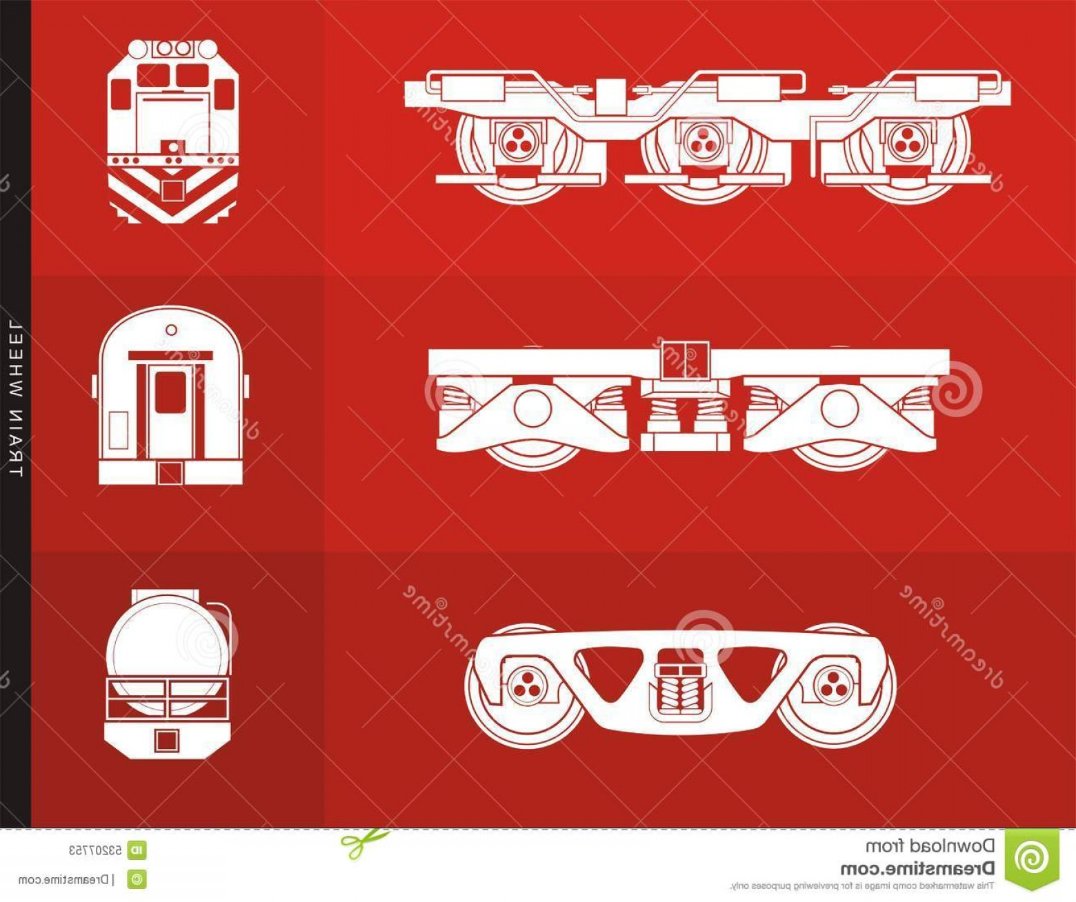 Vector Train Wheel: Stock Illustration Train Wheel Illustration Contains Illustrations Locomotive Car Coach Their Wheels Image