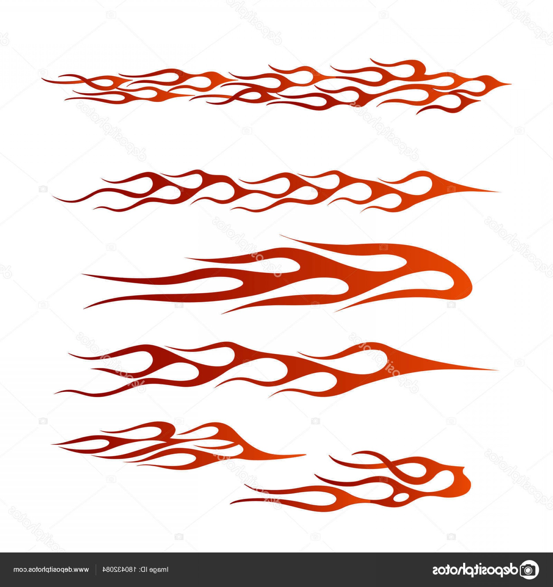 Tribal Flames Vector Car: Stock Illustration Tribal Vehicle Graphic Flame Vehicle