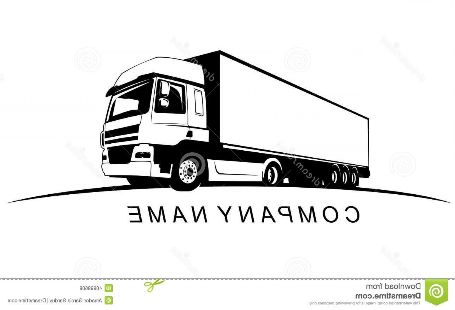 Volvo FH Vector: Stock Illustration Truck Company Name Cargo Image