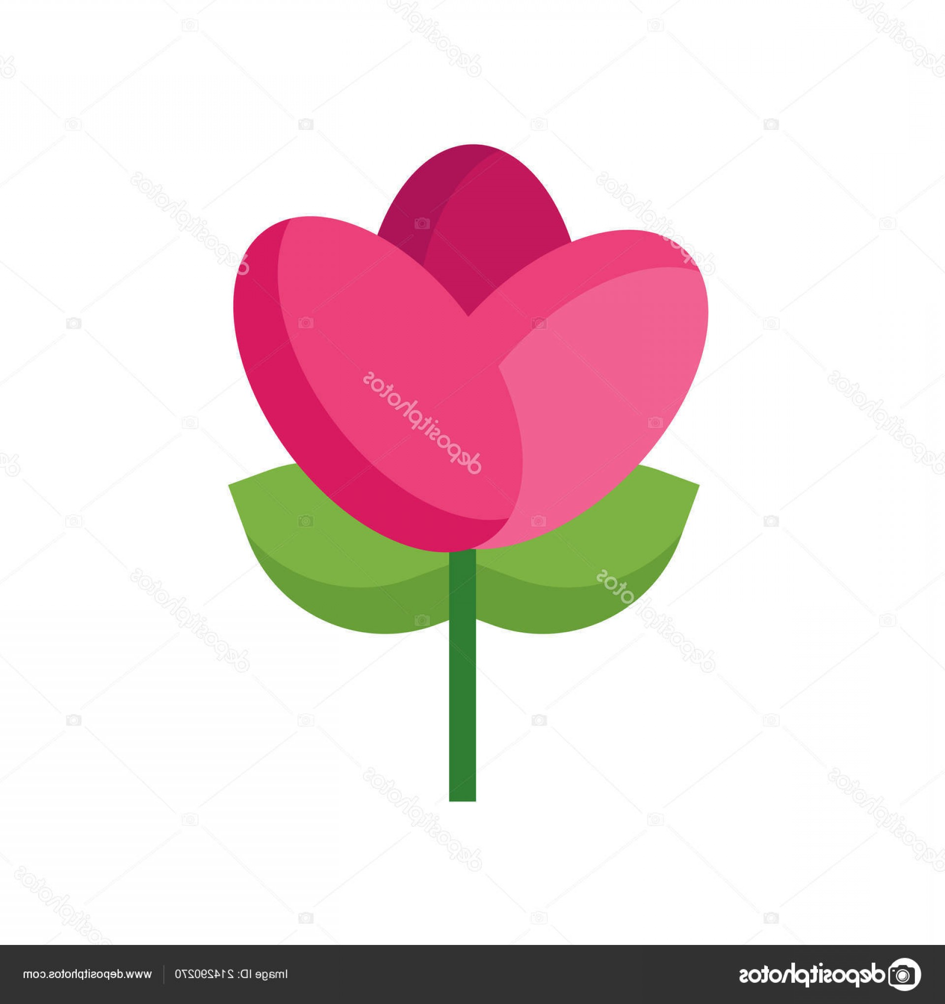 Tulip Icon Vector: Stock Illustration Tulip Icon Vector Isolated On