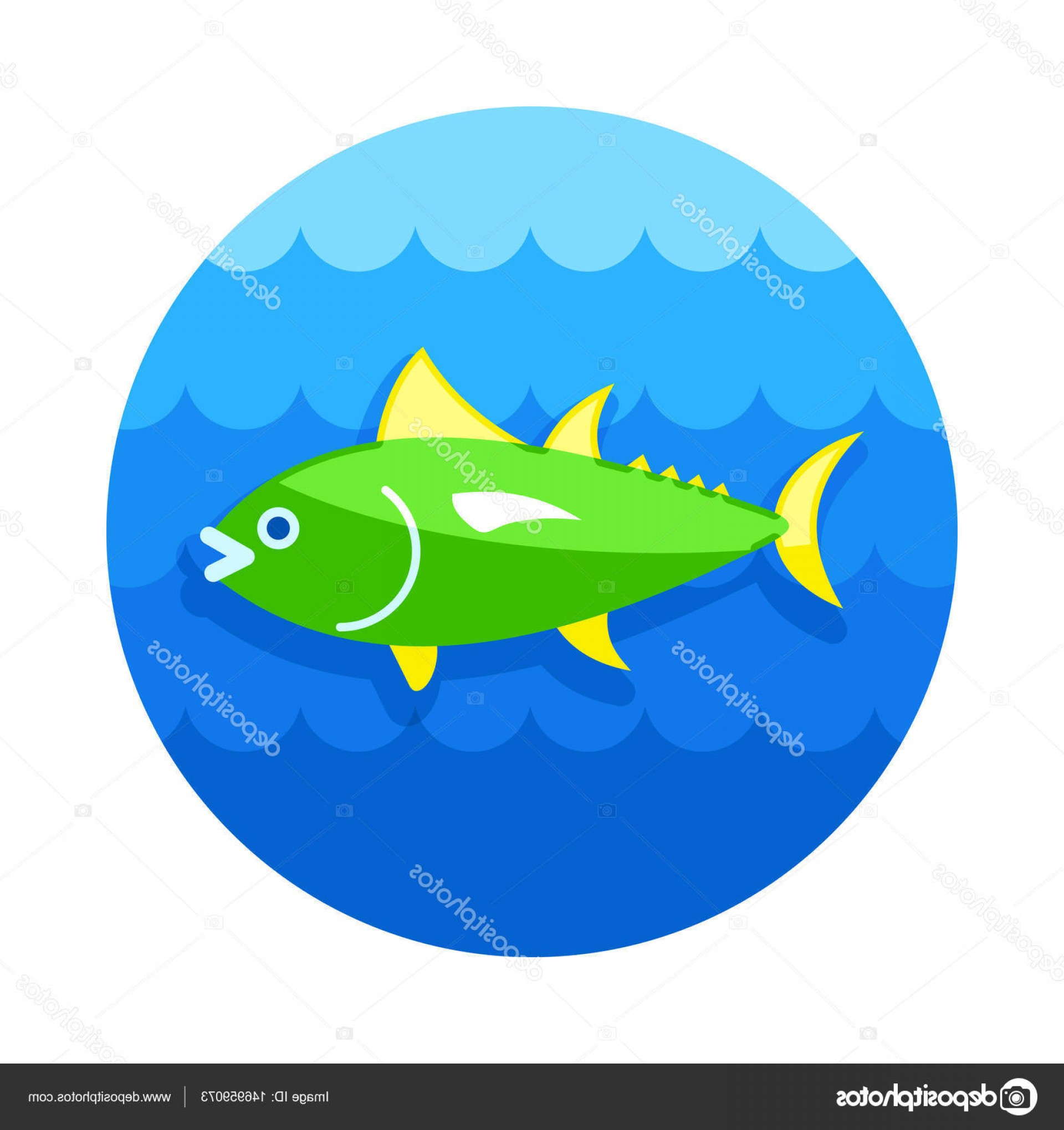 Mahi Mahi Outline Vector Images: Stock Illustration Tuna Icon Fishing Vacation