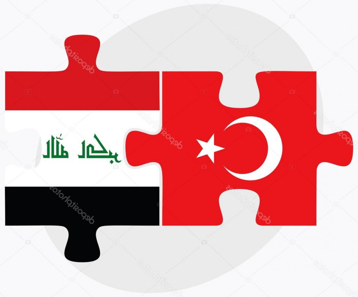 Turkey Logo Vector Art: Stock Illustration Turkey And Iraq Flags