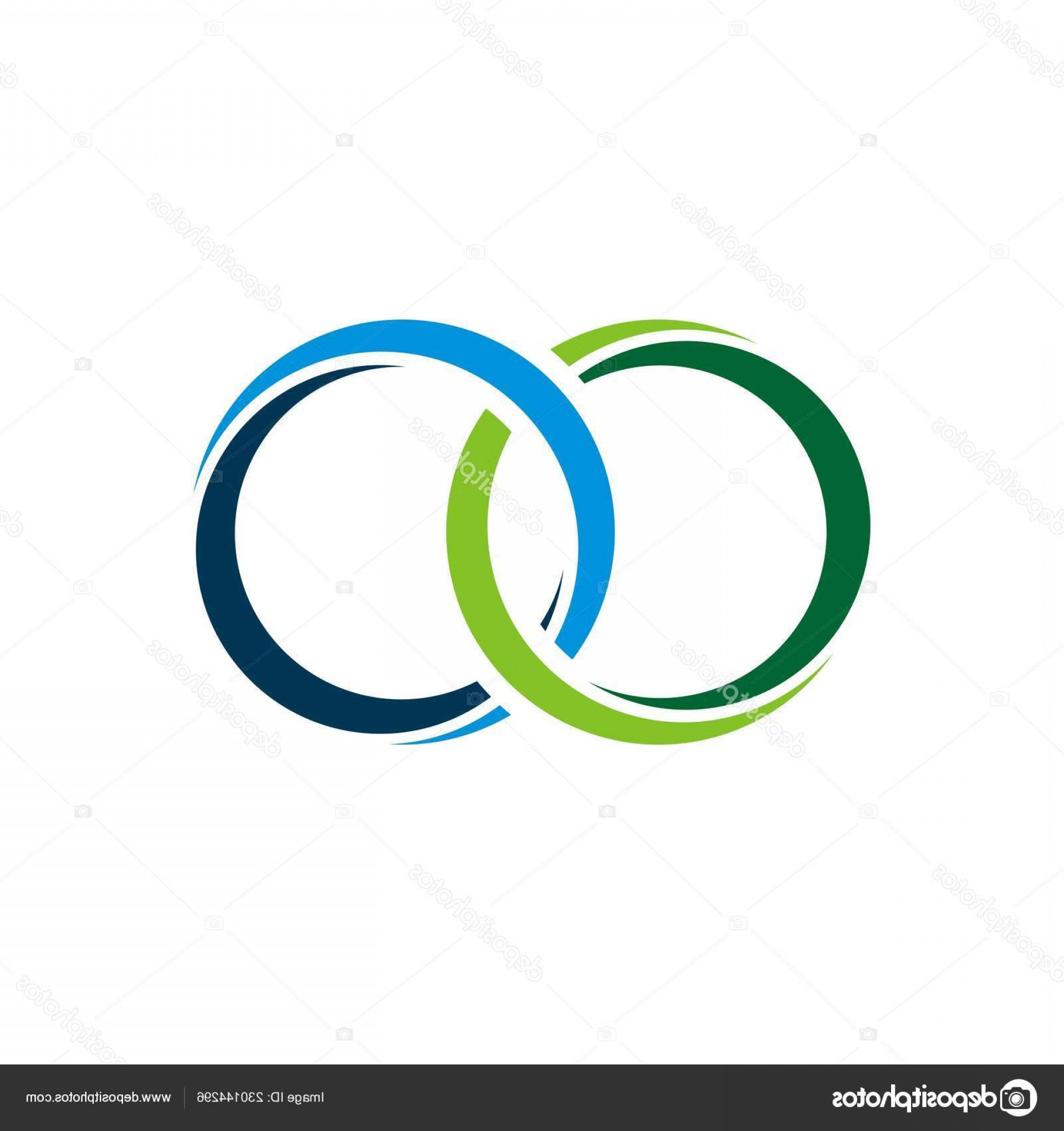 Vector Swoosh Simple Two Line: Stock Illustration Two Rings Swoosh Logo Template