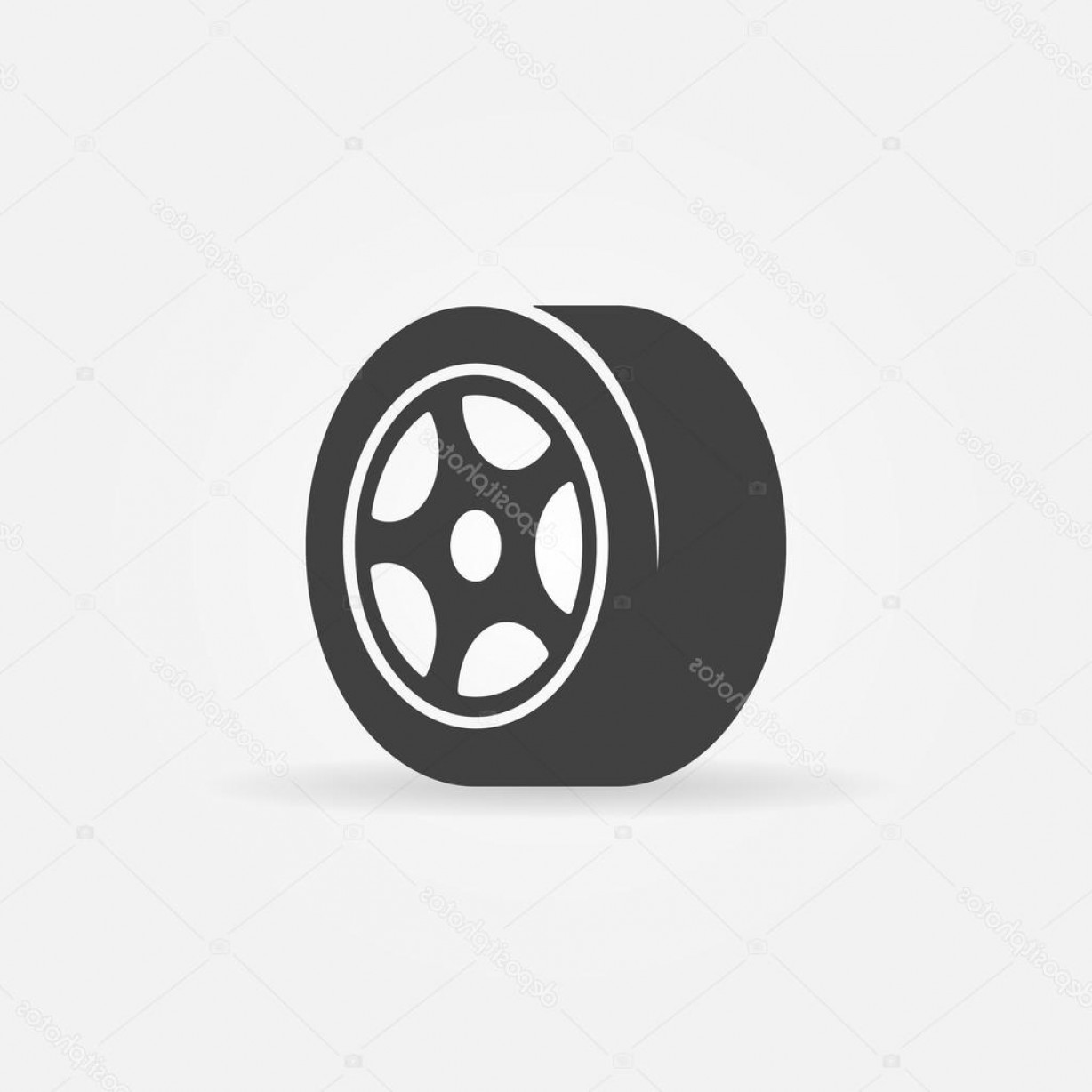 Tire Icon Vector: Stock Illustration Tyre Black Symbol Or Icon