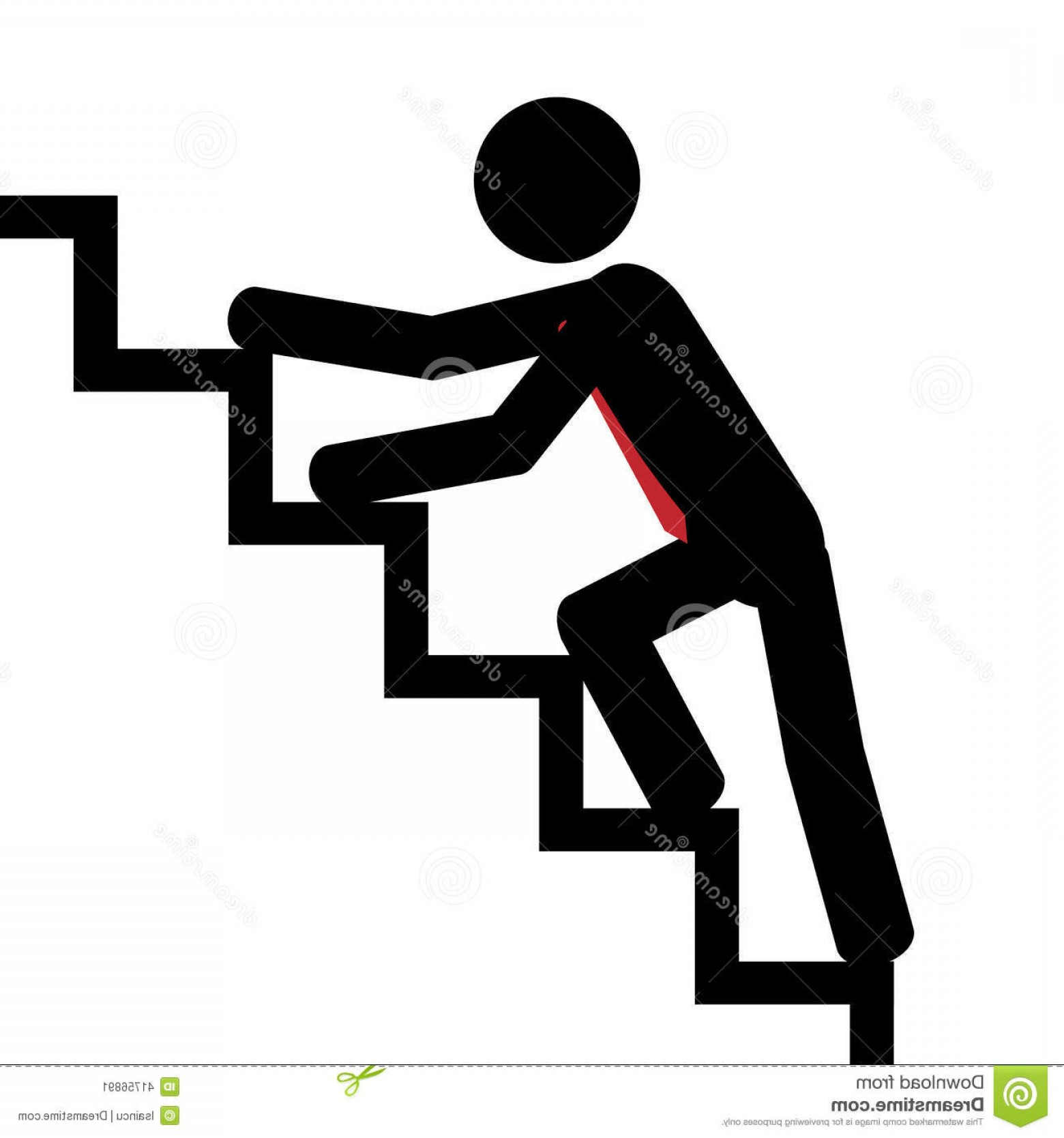 Stair Climb Vector: Stock Illustration Up Stairs Vector Illustration Man Trying To Climb Image