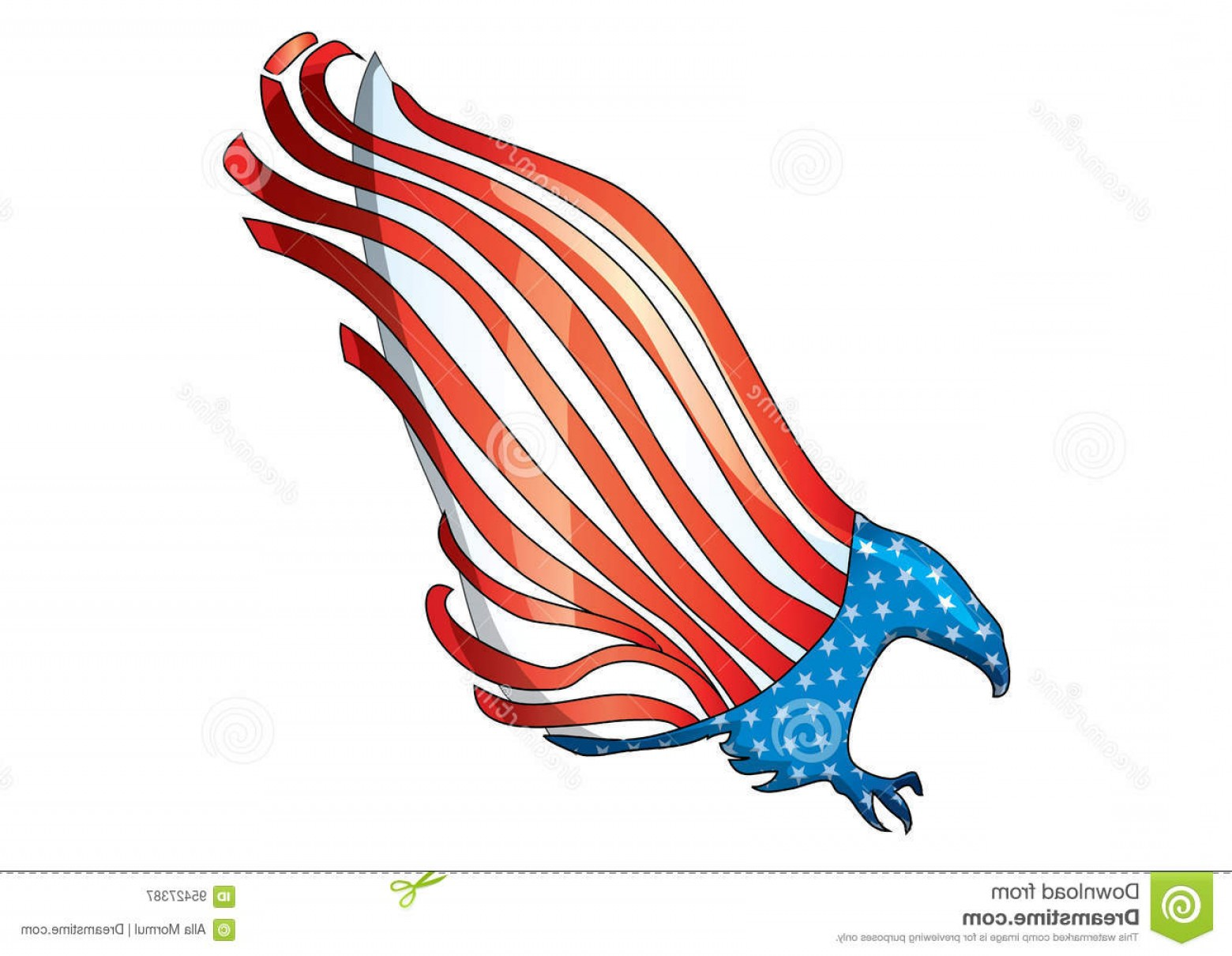 Eagle Banner Vector: Stock Illustration Usa Flag Eagle Vector Ai Th July American Clip Art Banner Decals Decorations Paper Poster T Shirt Scrapbooking Image