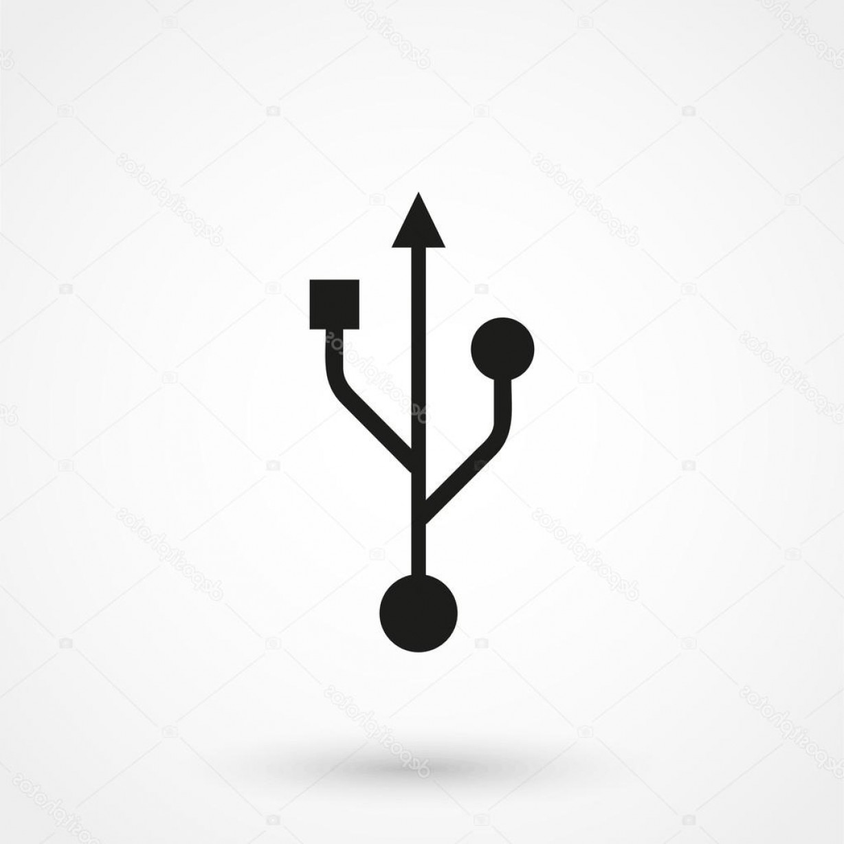 USB Icon Vector: Stock Illustration Usb Icon Vector Black On