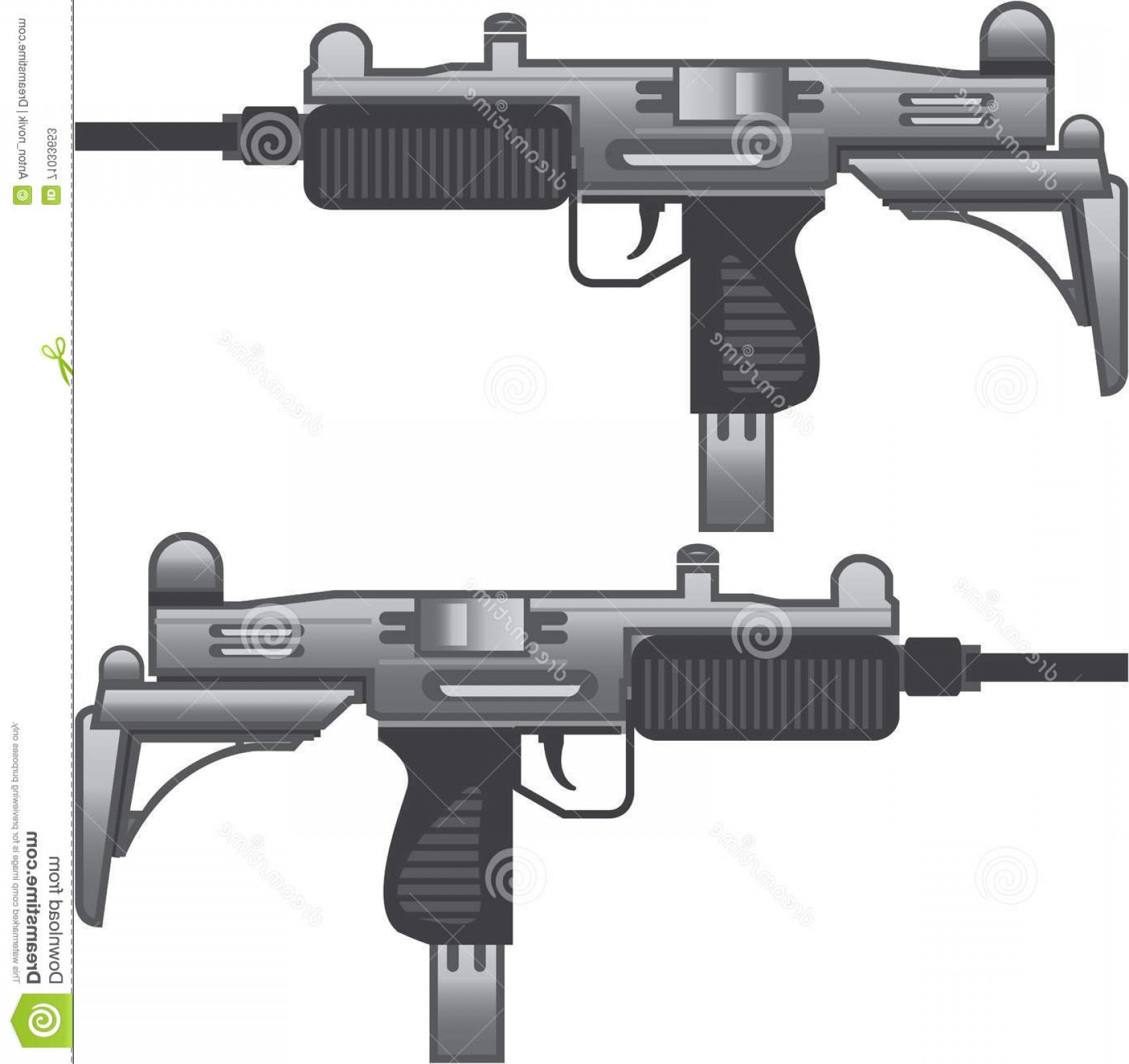 Vector Uzi Review: Stock Illustration Uzi Gun Vector Machine Eps File Image