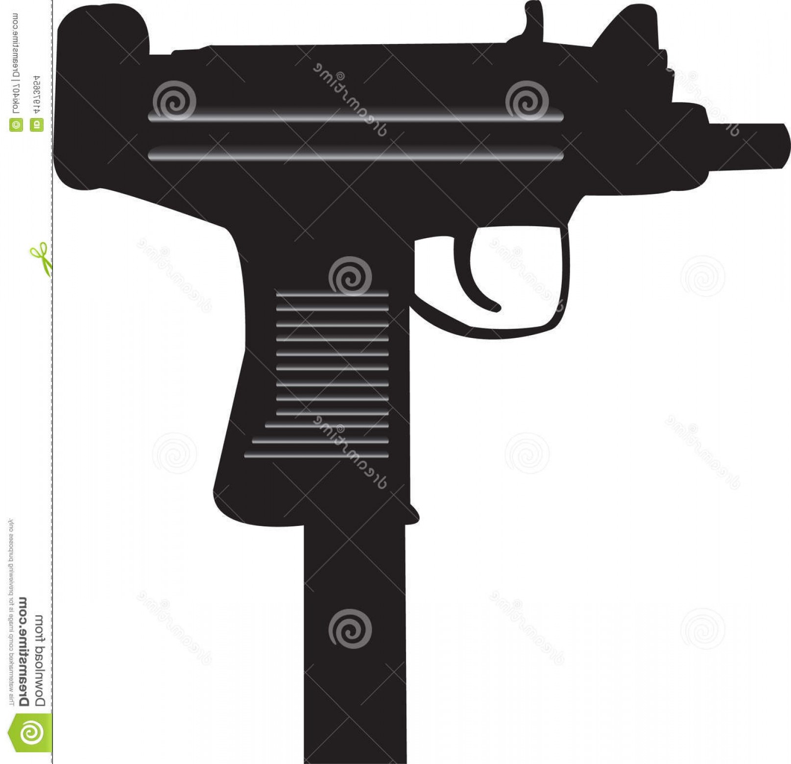 Vector Uzi Review: Stock Illustration Uzi Machine Gun Vector Image