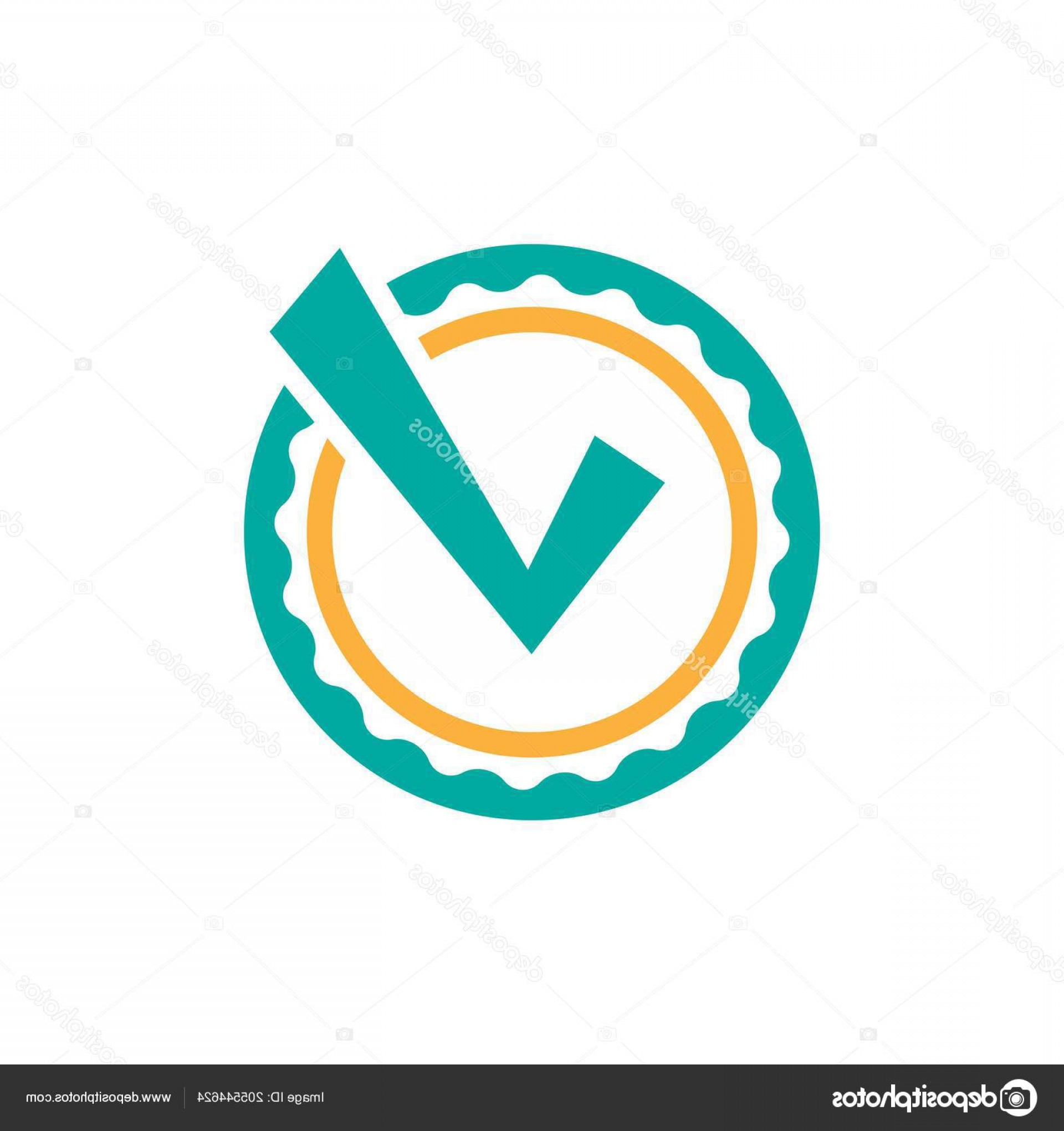 Blue And Orange Circle Vector: Stock Illustration Valid Seal Icon Blue Orange