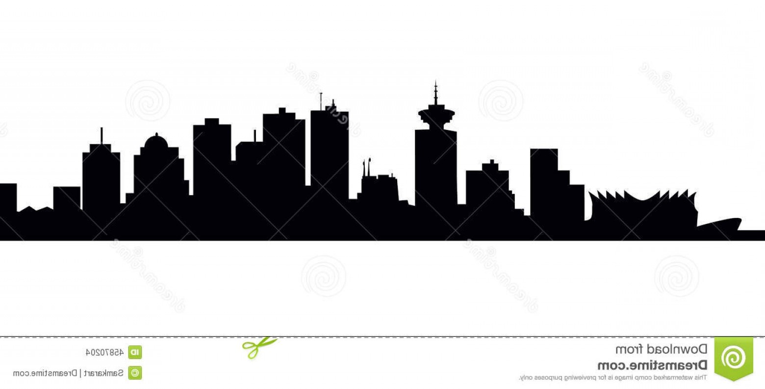 Vancouver Skyline Vector: Stock Illustration Vancouver Skyline Vector Illustration Image