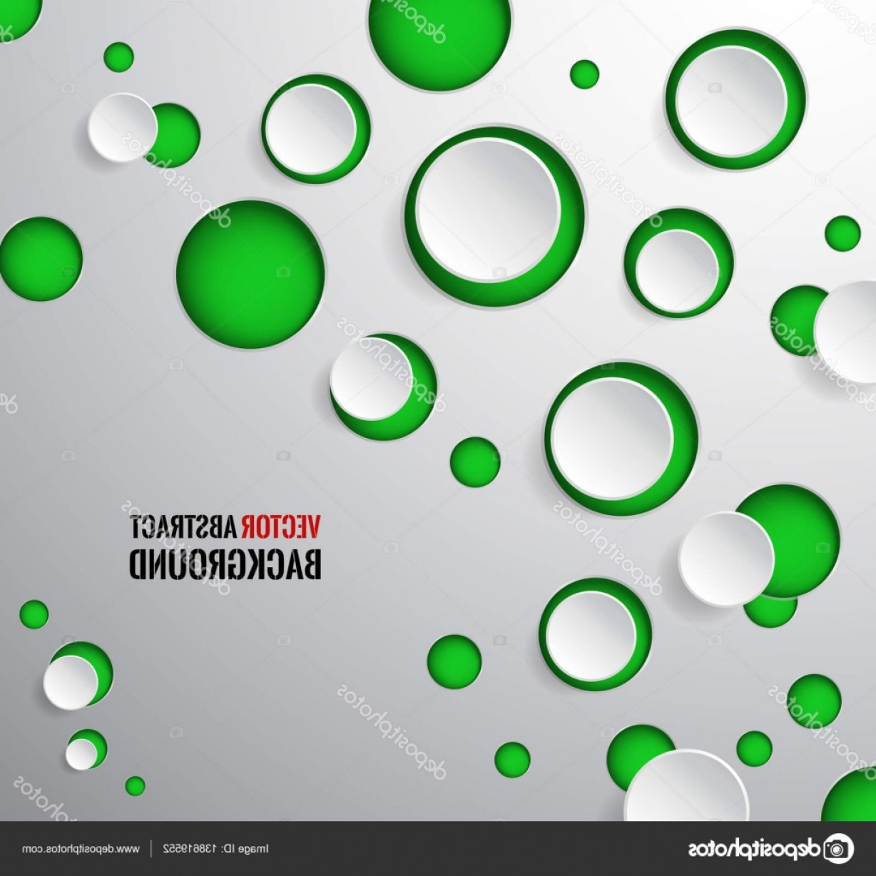 Vector Bubbles Circle: Stock Illustration Vector Abstract Background Circle Round