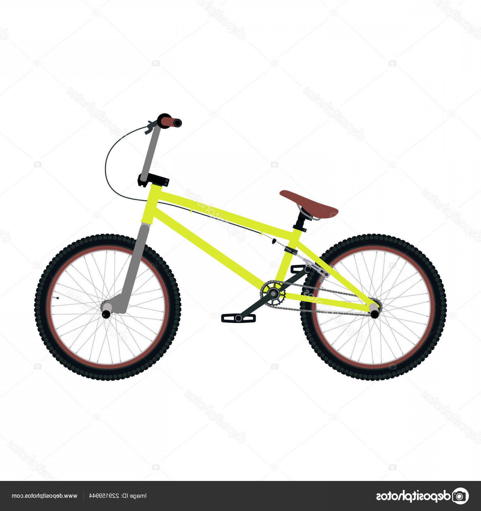BMX Bike Tire Vector: Stock Illustration Vector Bmx Bicycle Isolated White