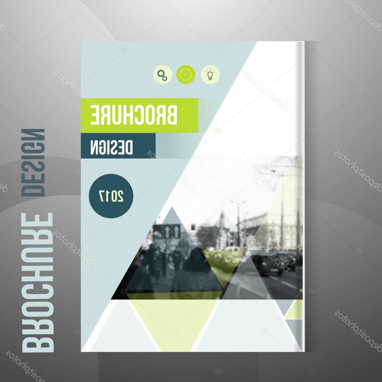 Vector Brochure Cover Designs: Stock Illustration Vector Brochure Cover Template With