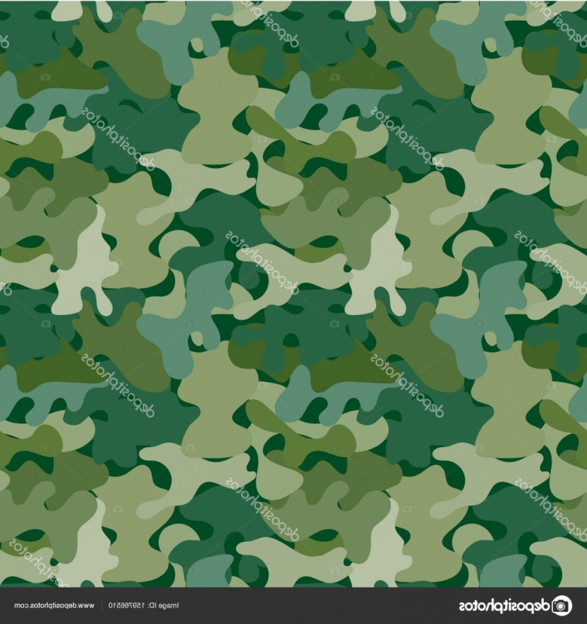 Army Camouflage Pattern Vector: Stock Illustration Vector Camouflage Seamless Pattern For
