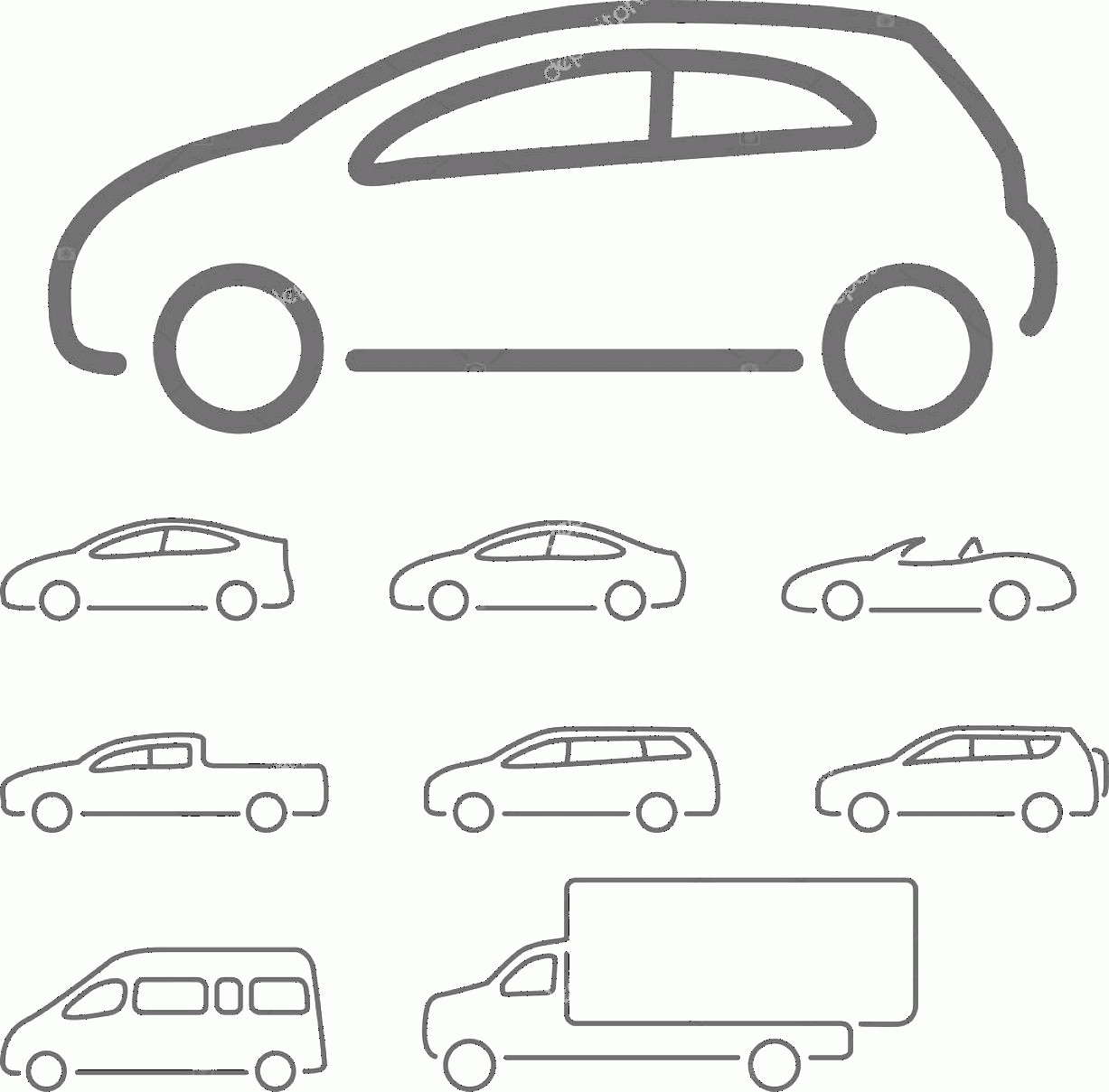 Vector Car: Stock Illustration Vector Car Icon Set