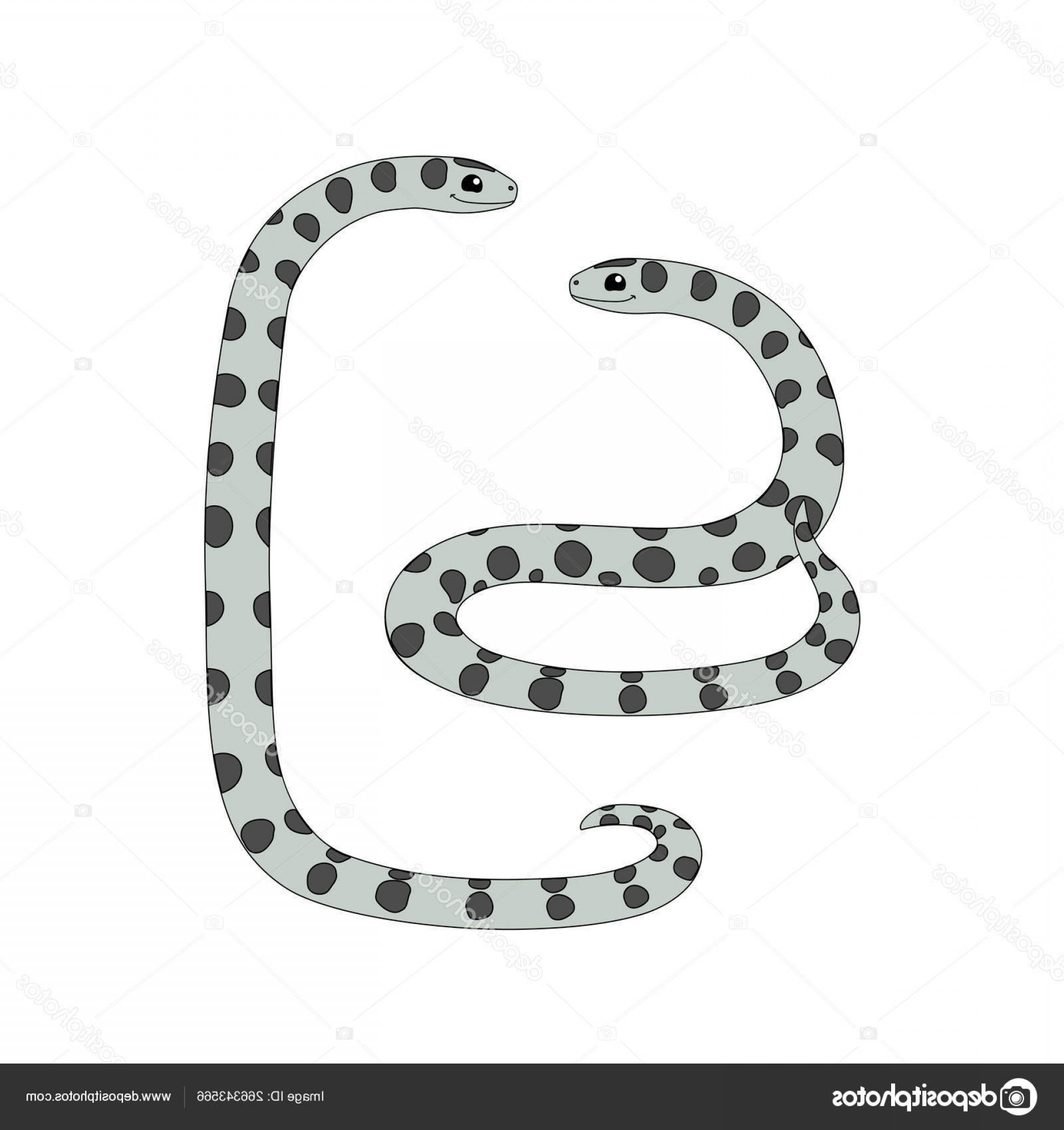 Vector Rainforest Anaconda: Stock Illustration Vector Cartoon Animal Clip Art