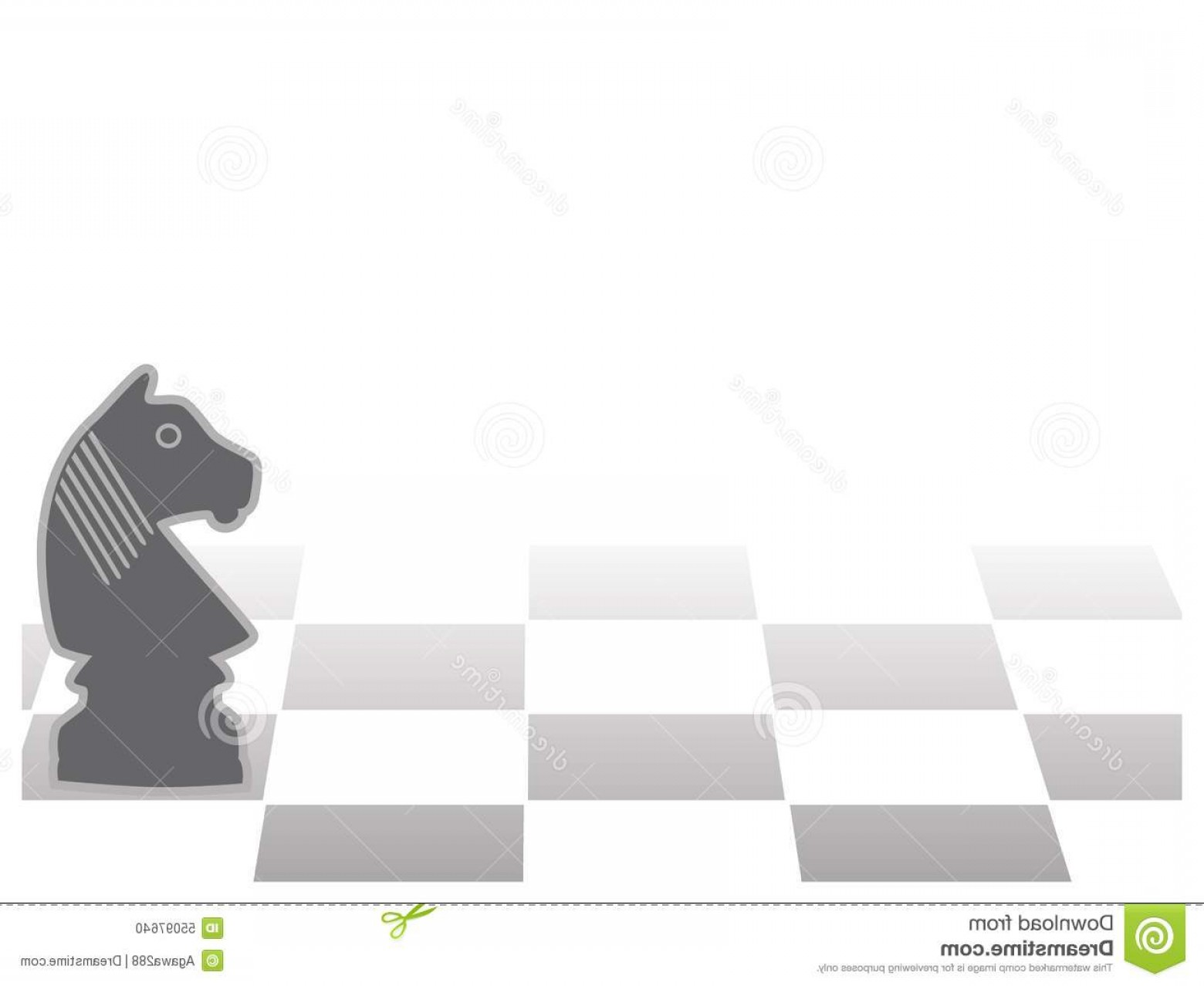 Chess Vector Background: Stock Illustration Vector Chess Background Chess Horse Figurine Copy Space Presentation Template Image