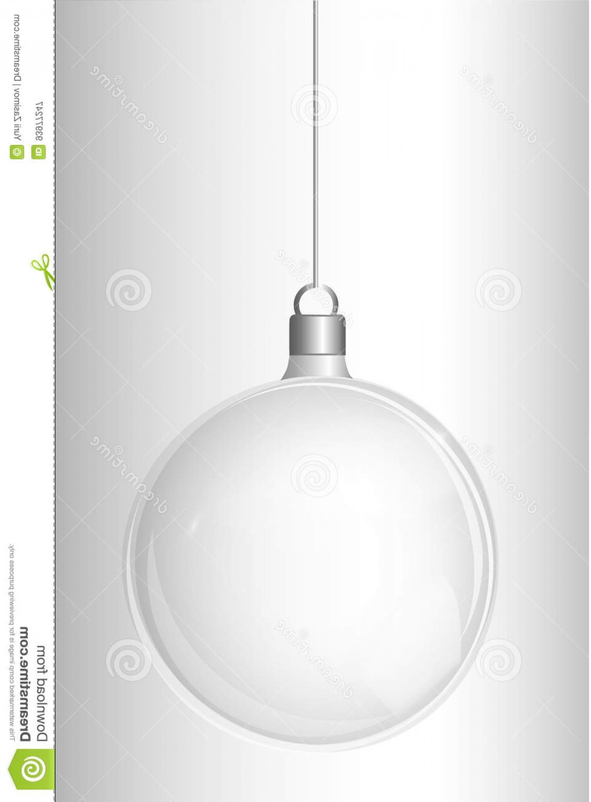 3 Glass Christmas Bulb Vector: Stock Illustration Vector Christmas Fir Tree Realistic Transparent Silver Christmas Ball Light Abstract Background Glass Elements Image