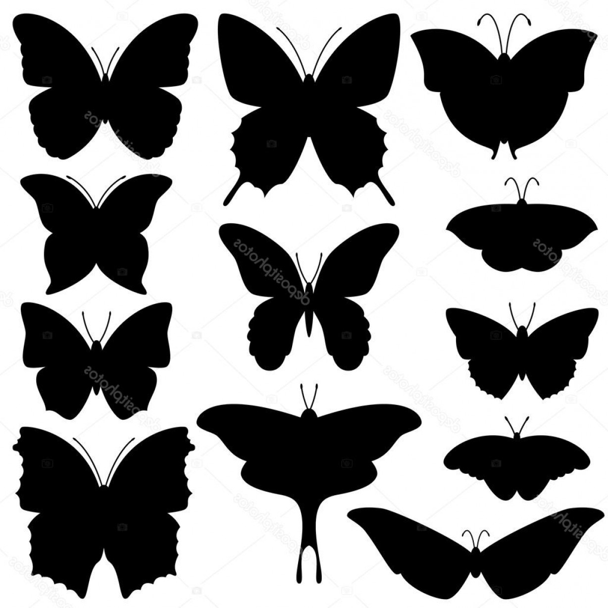 Mariposa Vector: Stock Illustration Vector Collection Of Butterfly Silhouettes