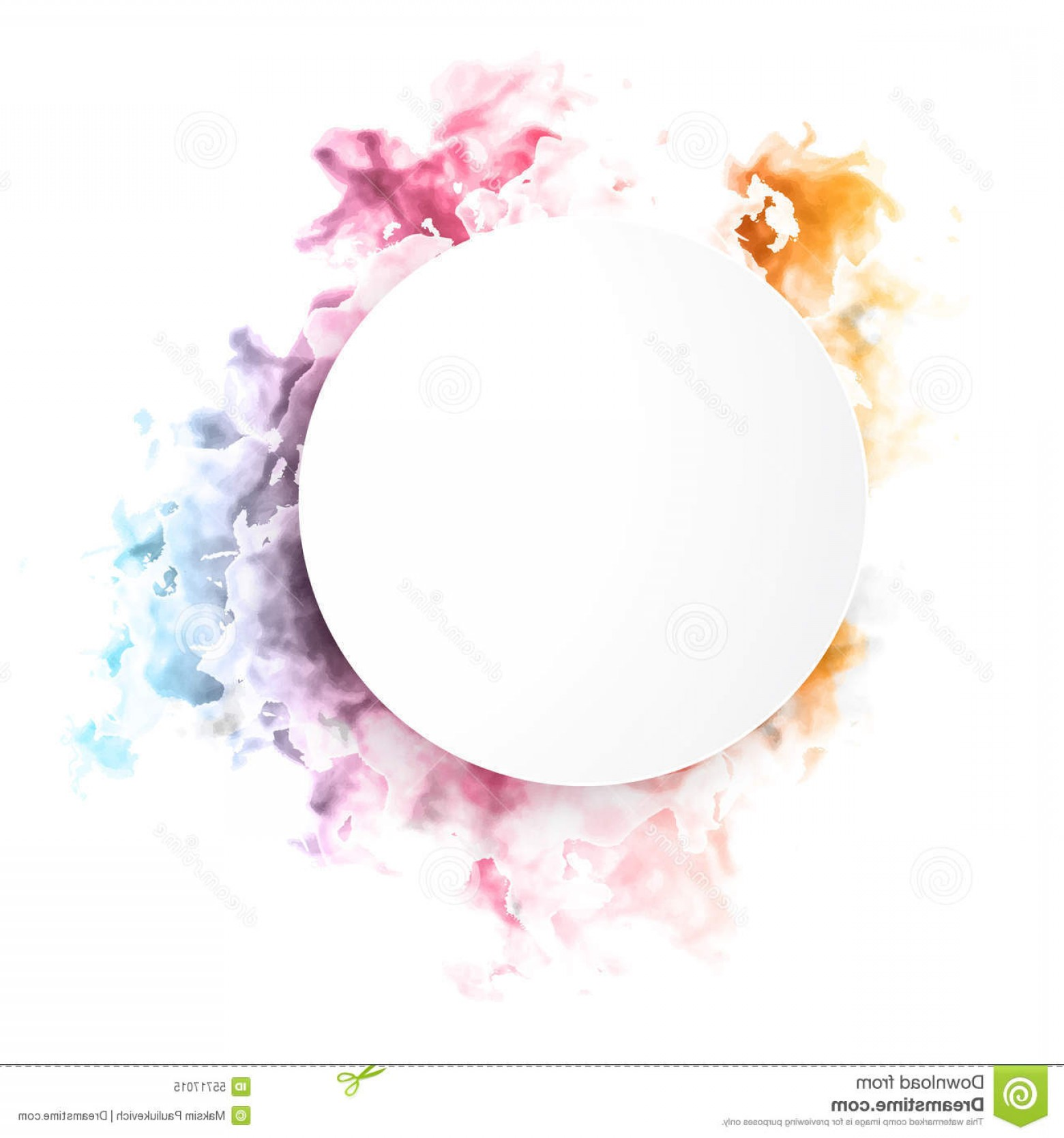 Color Smoke Vector: Stock Illustration Vector Color Cloud Floral Background Smoke Watercolor Texture Image
