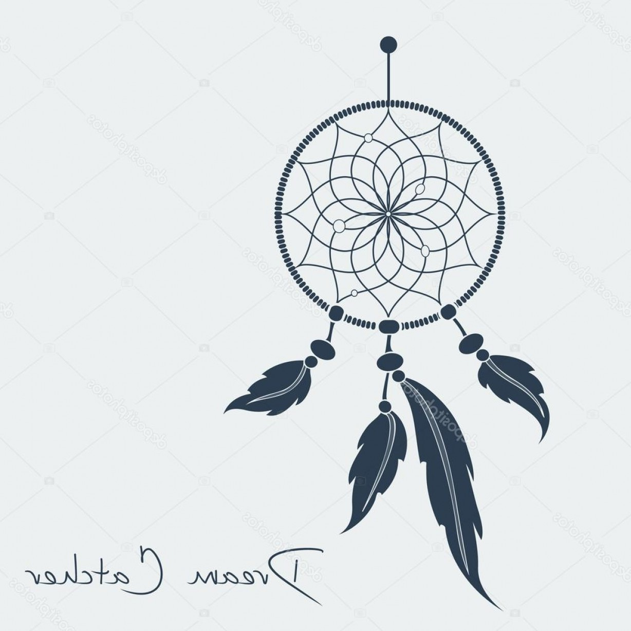 Dreamcatcher Tattoo Vector: Stock Illustration Vector Dream Catcher Black