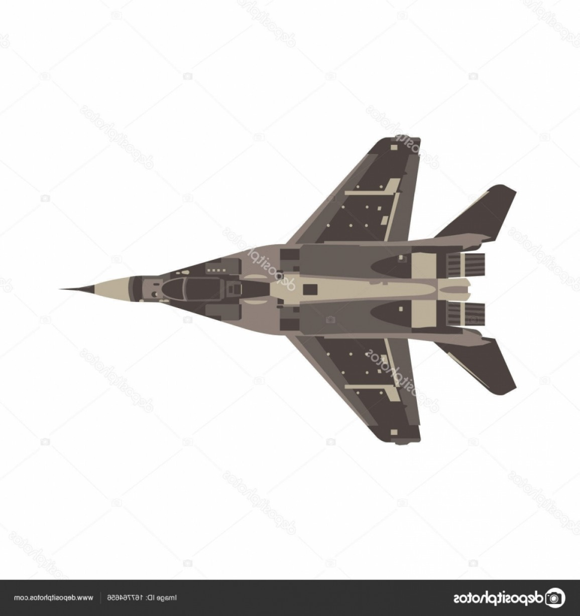Vector Jet Fighter: Stock Illustration Vector Fighter Jet Flat Icon