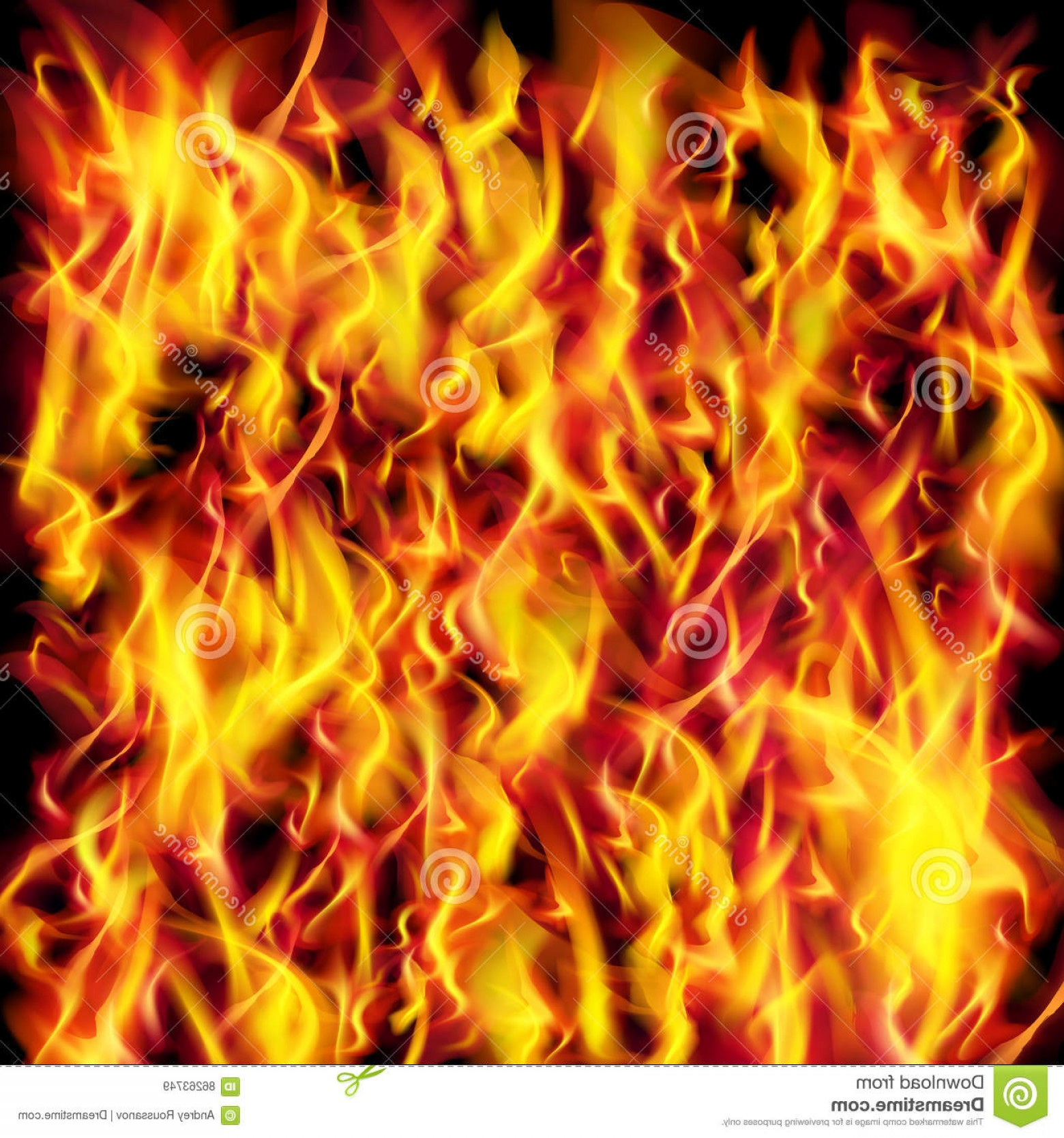 Vector Flame Stick Pattern: Stock Illustration Vector Fire Flame Texture Background Image